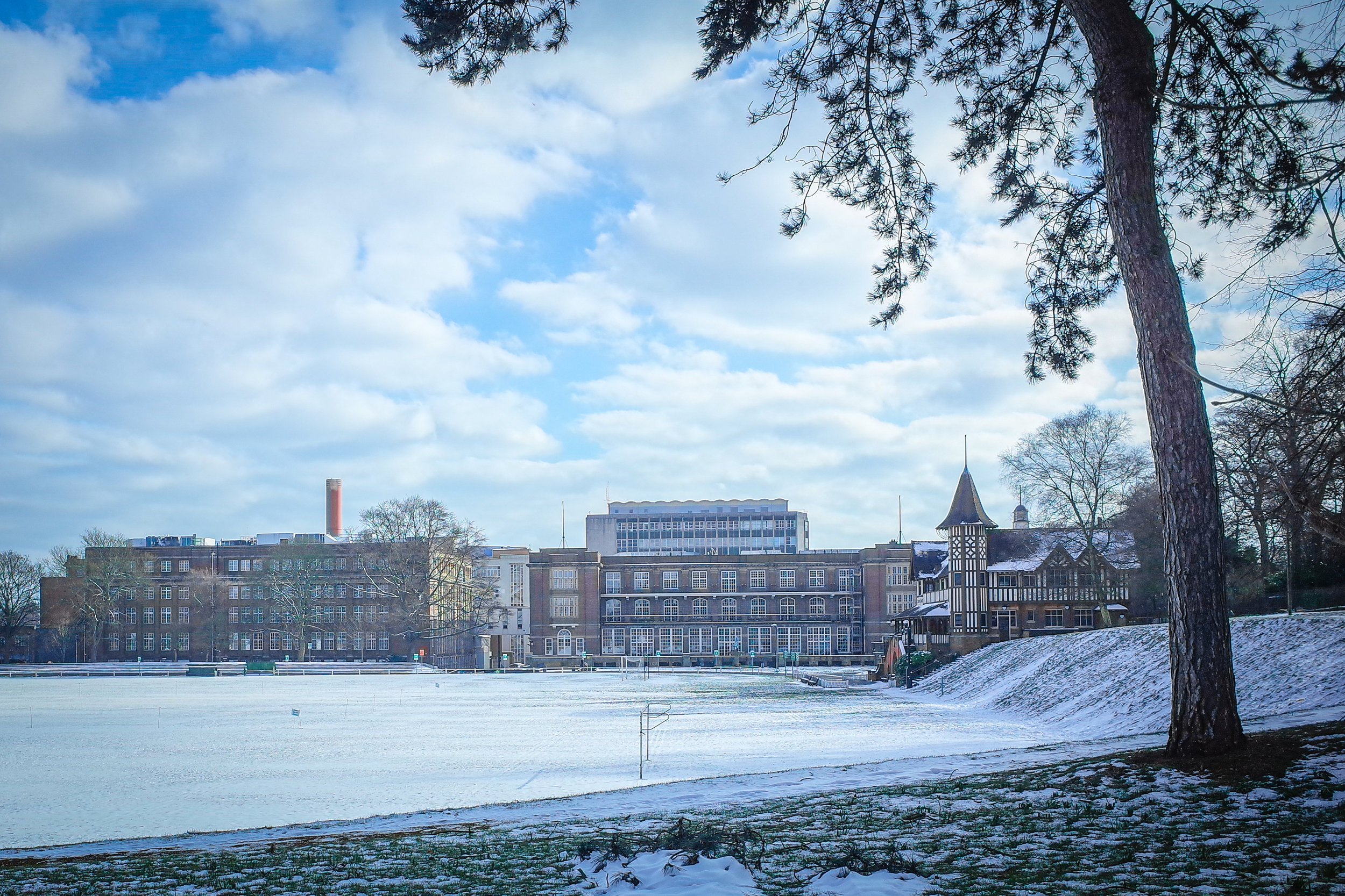Snowy Cadbury Factory