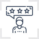 Customer Review Management Icon