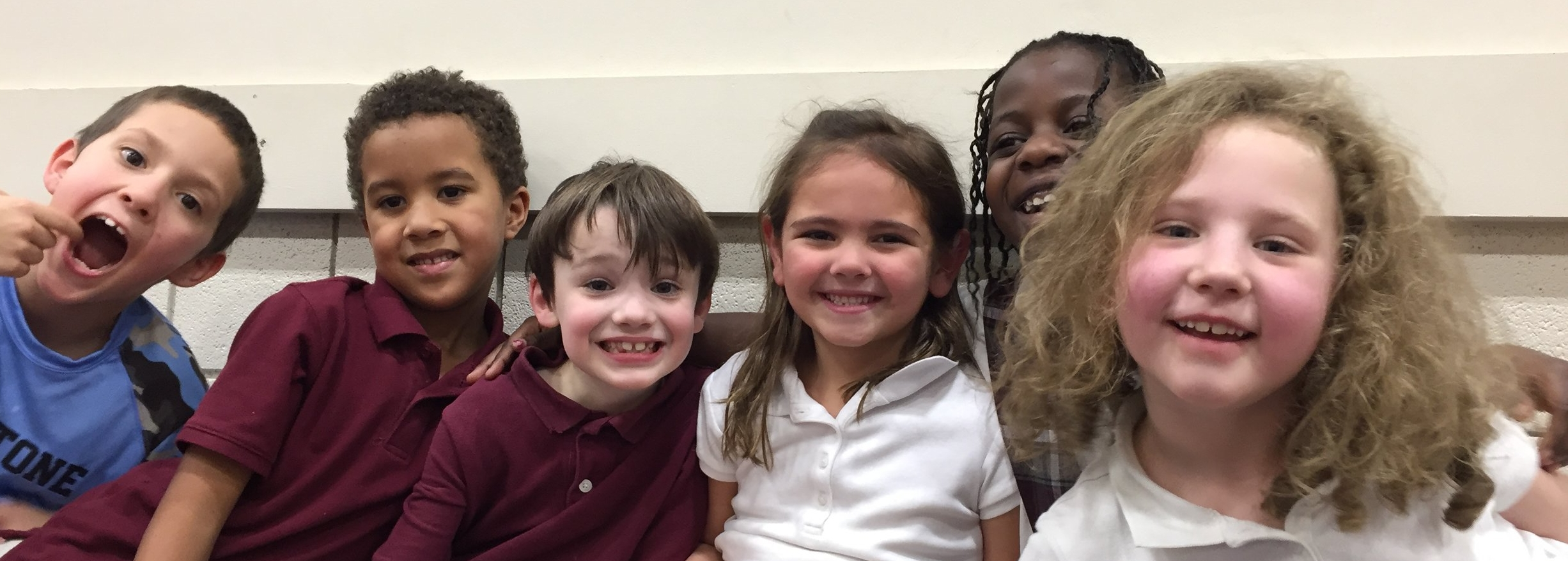 Kindergarten students at St. Timothy School have lots of opportunities to build strong friendships with their classmates. St. Tim School, Catholic school, northwest Columbus, full-day kindergarten.