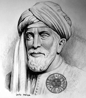 An artist's depiction of R' Shlomo ibn Gabriol, author of the piyyut, Kol Beru'ei