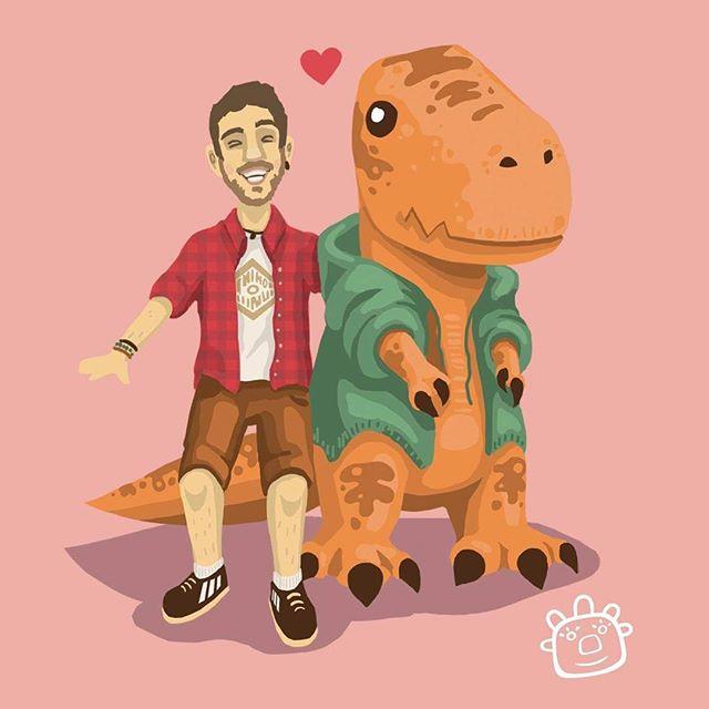 Tibi and Arthur ⭐️ - - - #digitalart #illustration #art #cute #dinosaur #photoshop #digitalartist