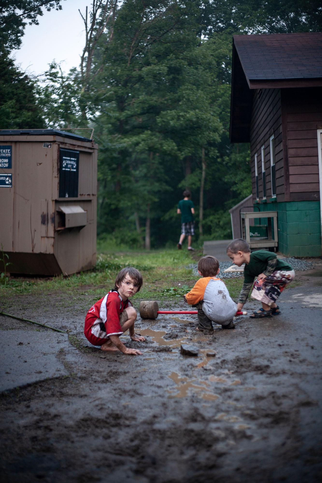 Primitive Survival Camp for The Washington Post Magazine