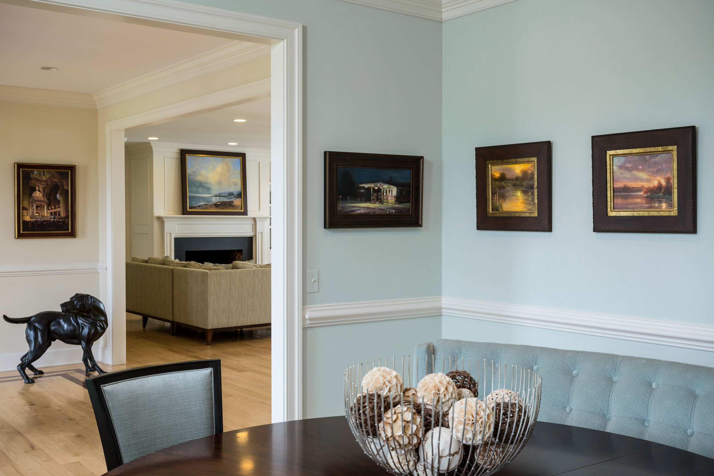 Eastern Shore home featuring artwork for Plein Air Magazine.