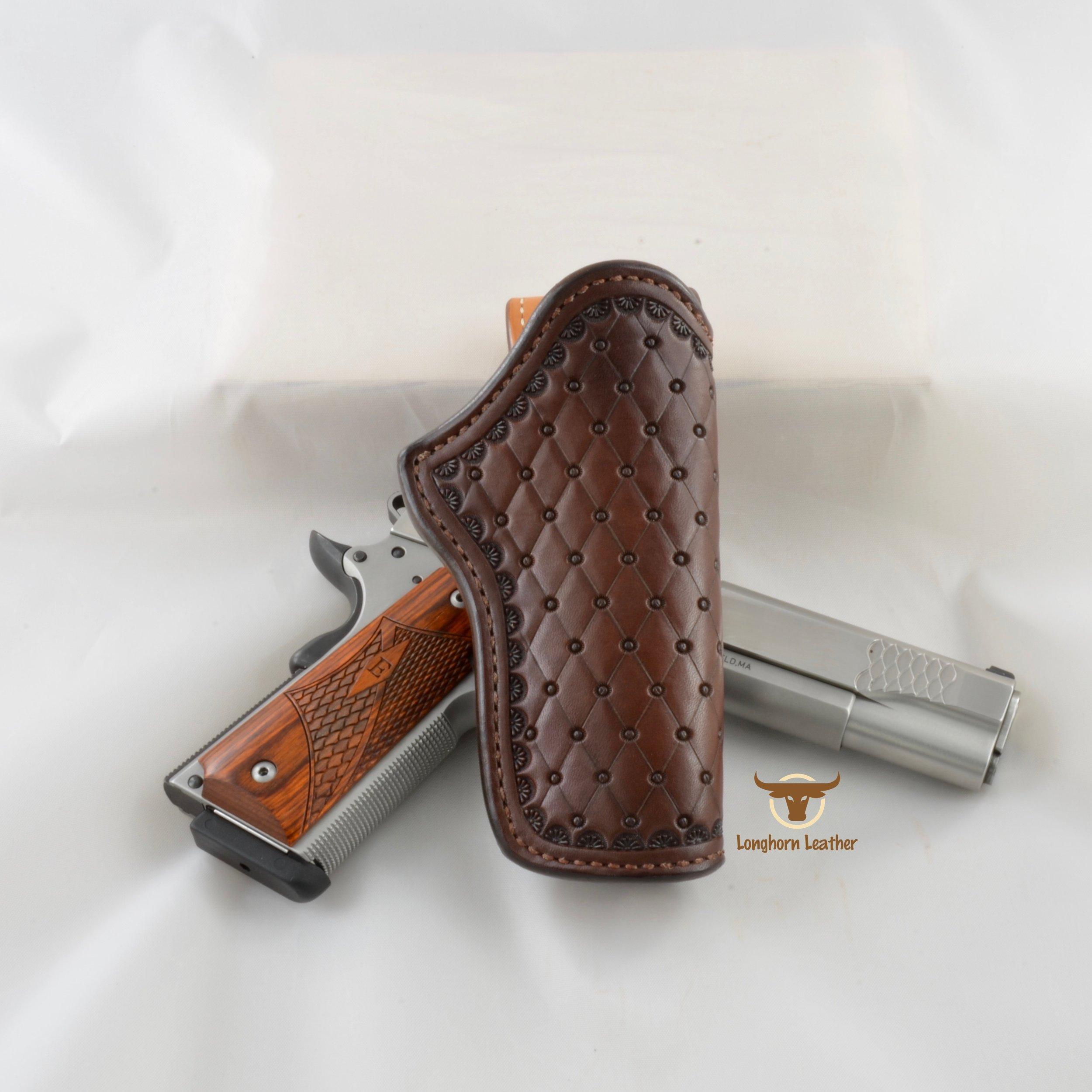 Longhorn Leather AZ - 1911 Holster featurng the %22San Carlos%22 design 2.jpg