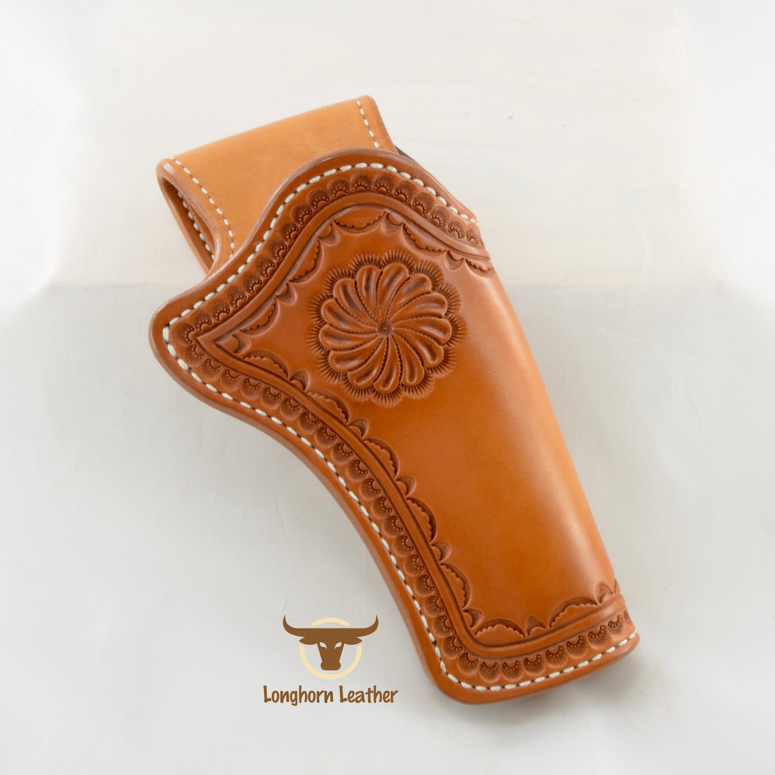 Ruger SP101 holster and gun belt featuring the Rio Verde design - Longhorn Leather AZ