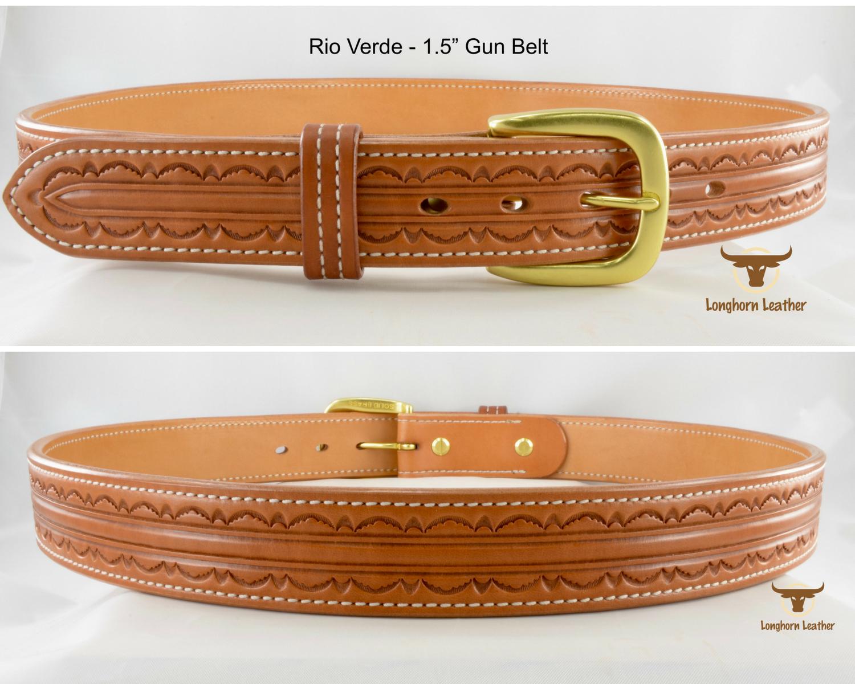 gun belt featuring the Rio Verde design - Longhorn Leather AZ