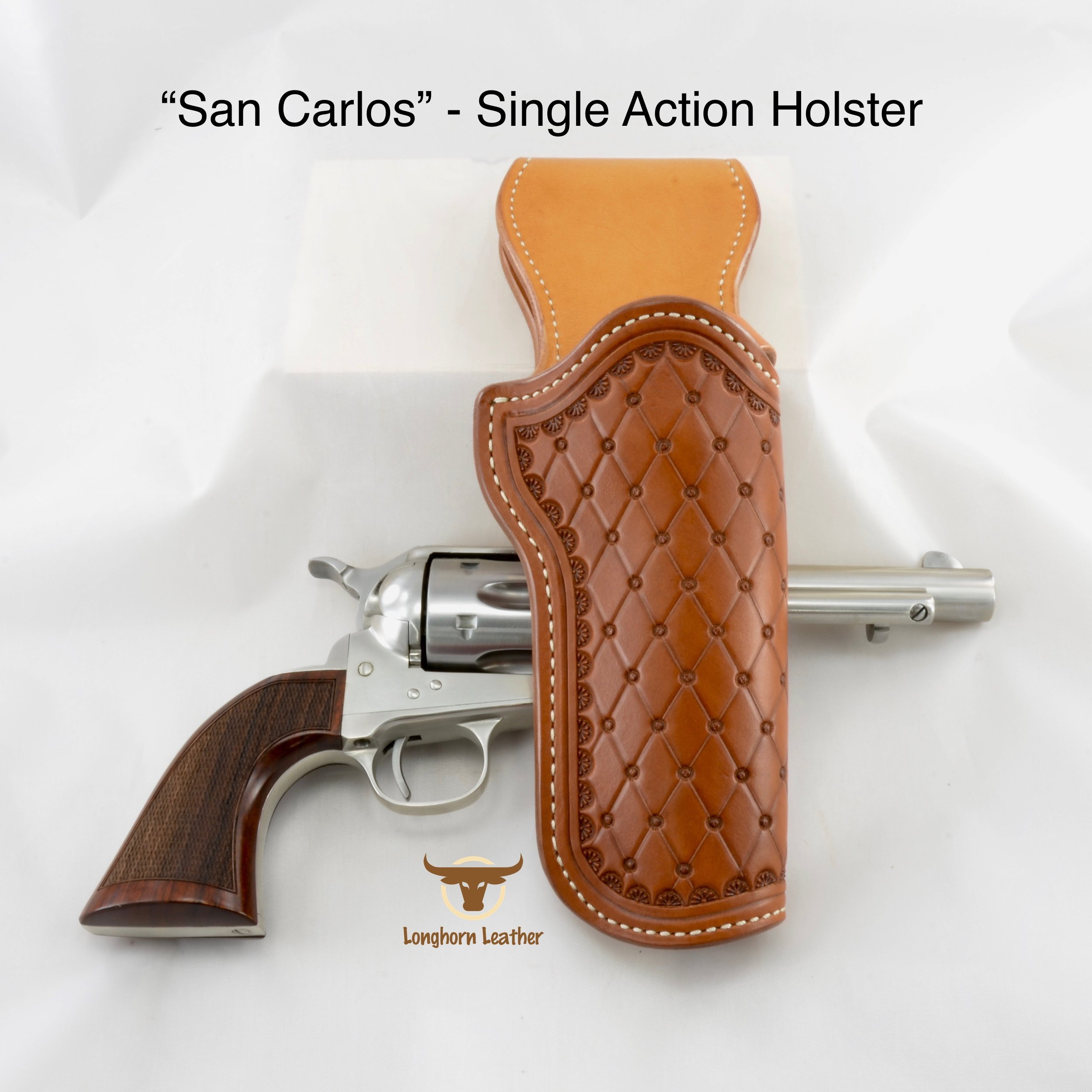 "Single Action holster featuring the ""San Carlos"" design"