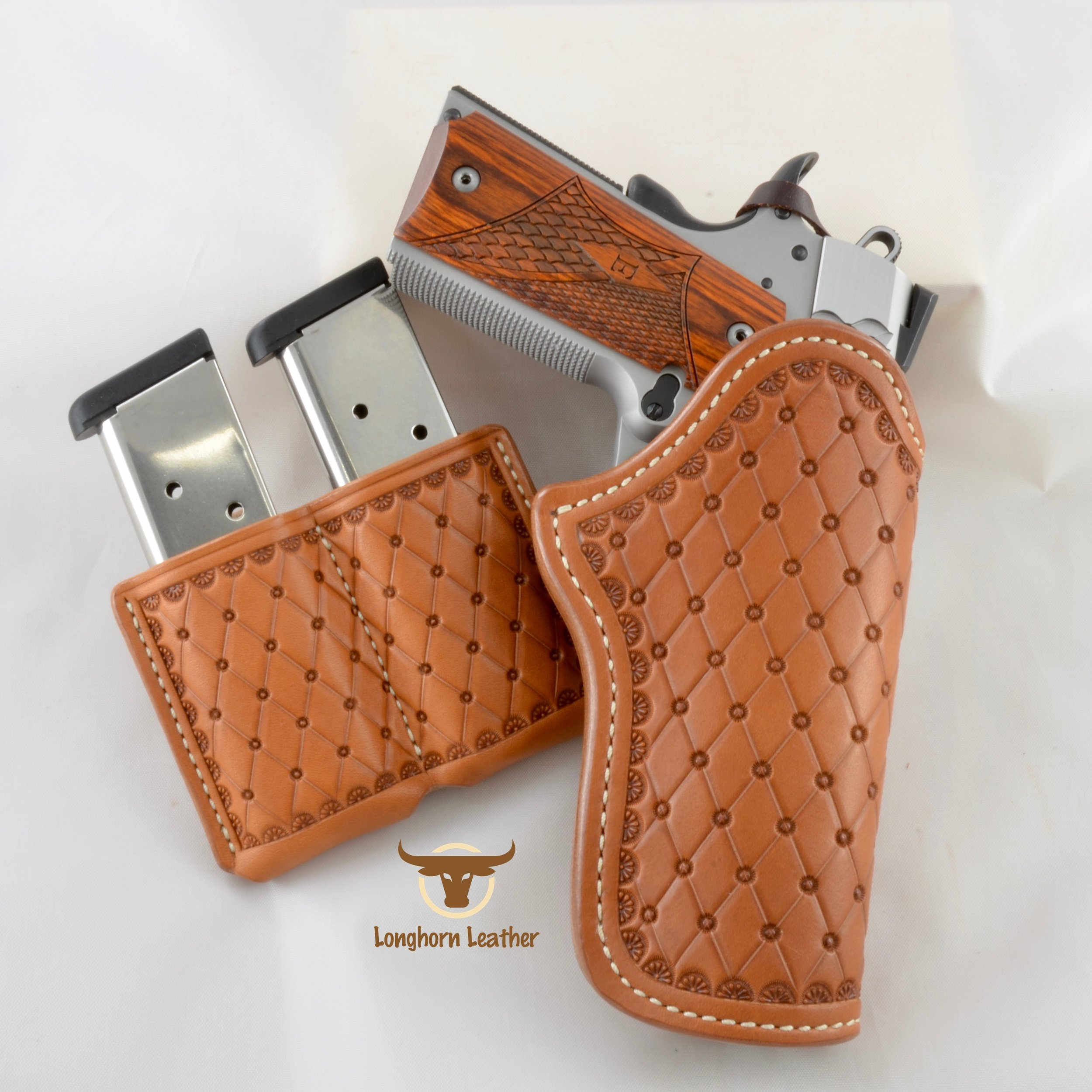 "1911 Holster & Magazine Pouch featuring the ""San Carlos"" design."