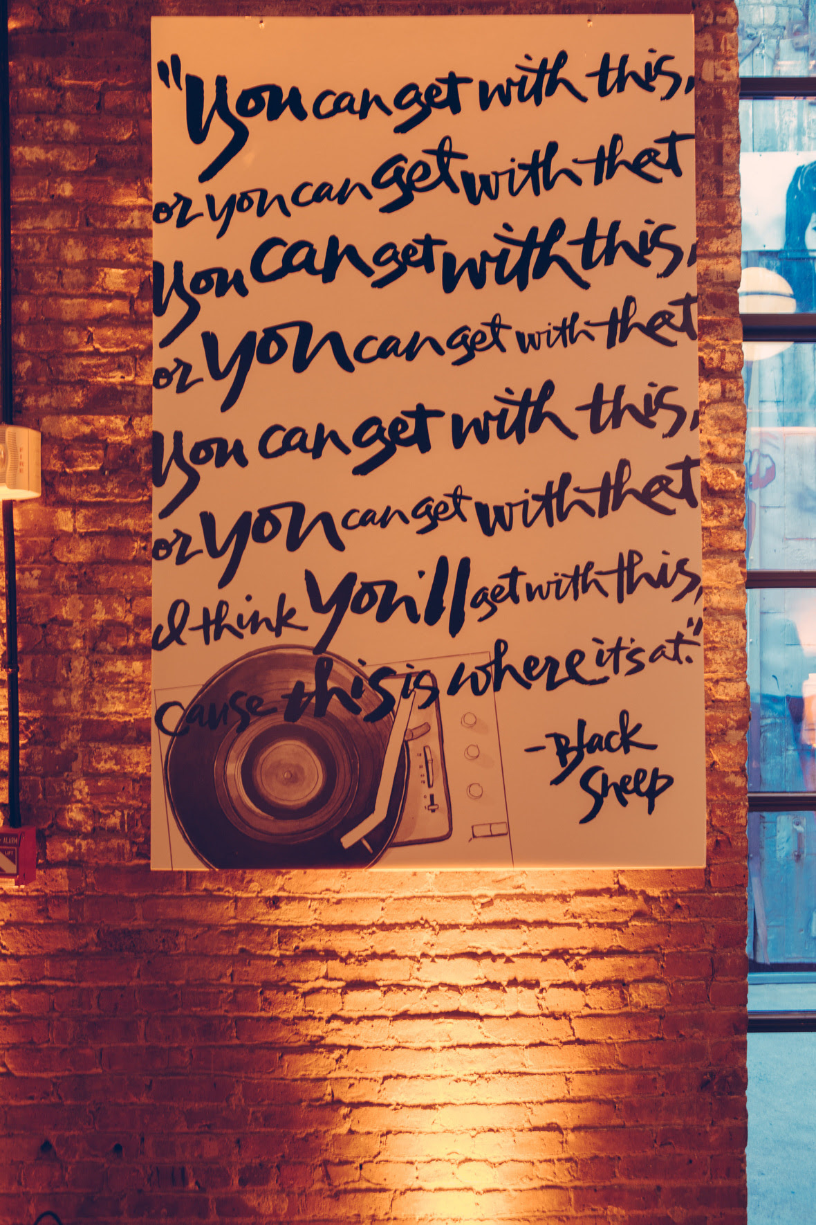 Art piece by Katie Fischer Design. Hand-lettering by Paperfinger.