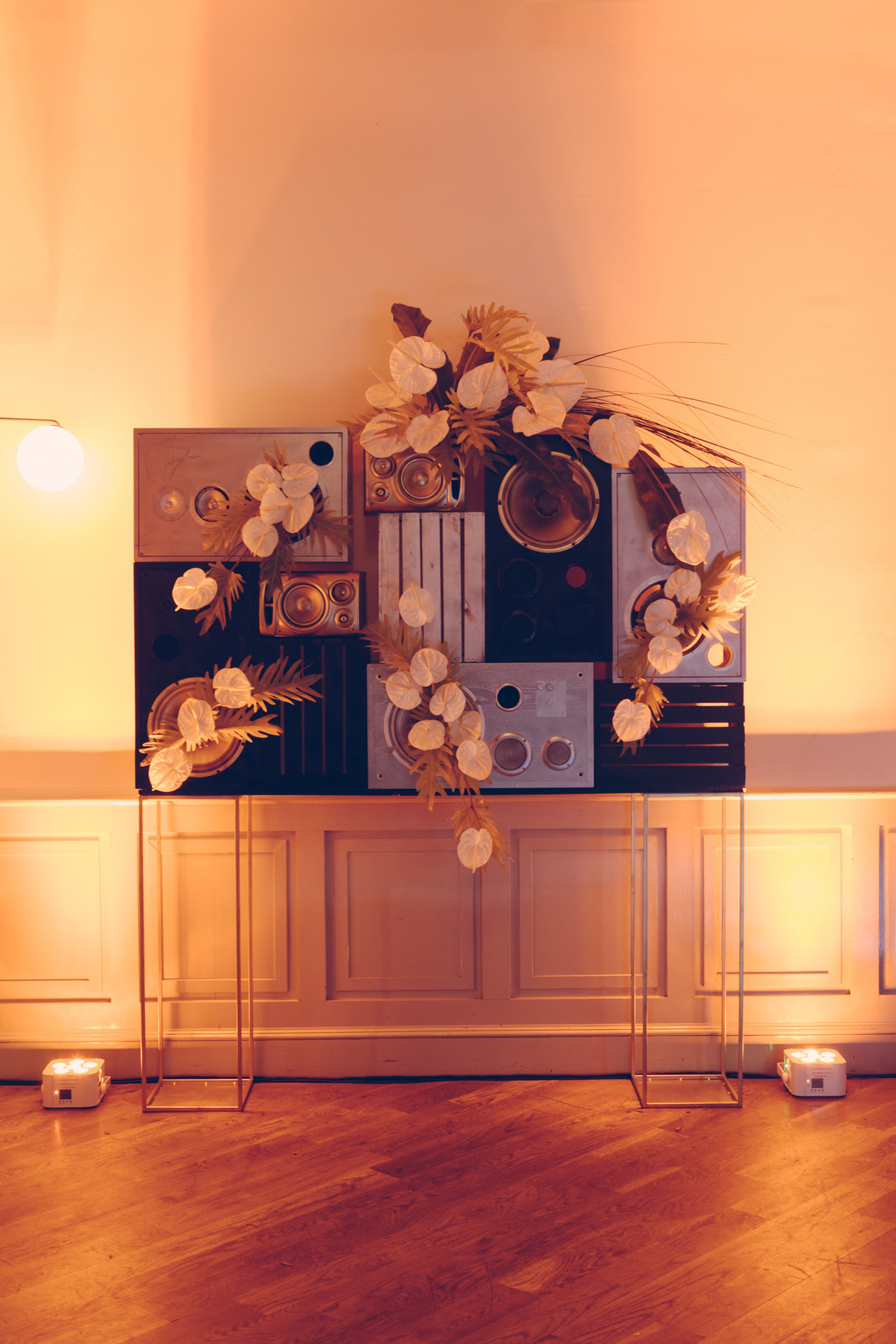 Event design and speaker art installation by Anne Kilcullen of Blade.