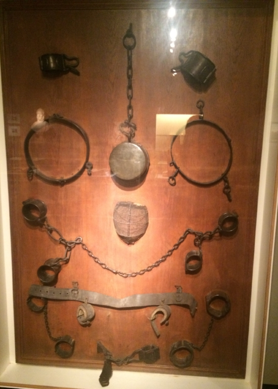 Coercion: shackles and chains used before 1815 at the Gerard the Devil's Castle (Ghent)to restrain the mentally ill