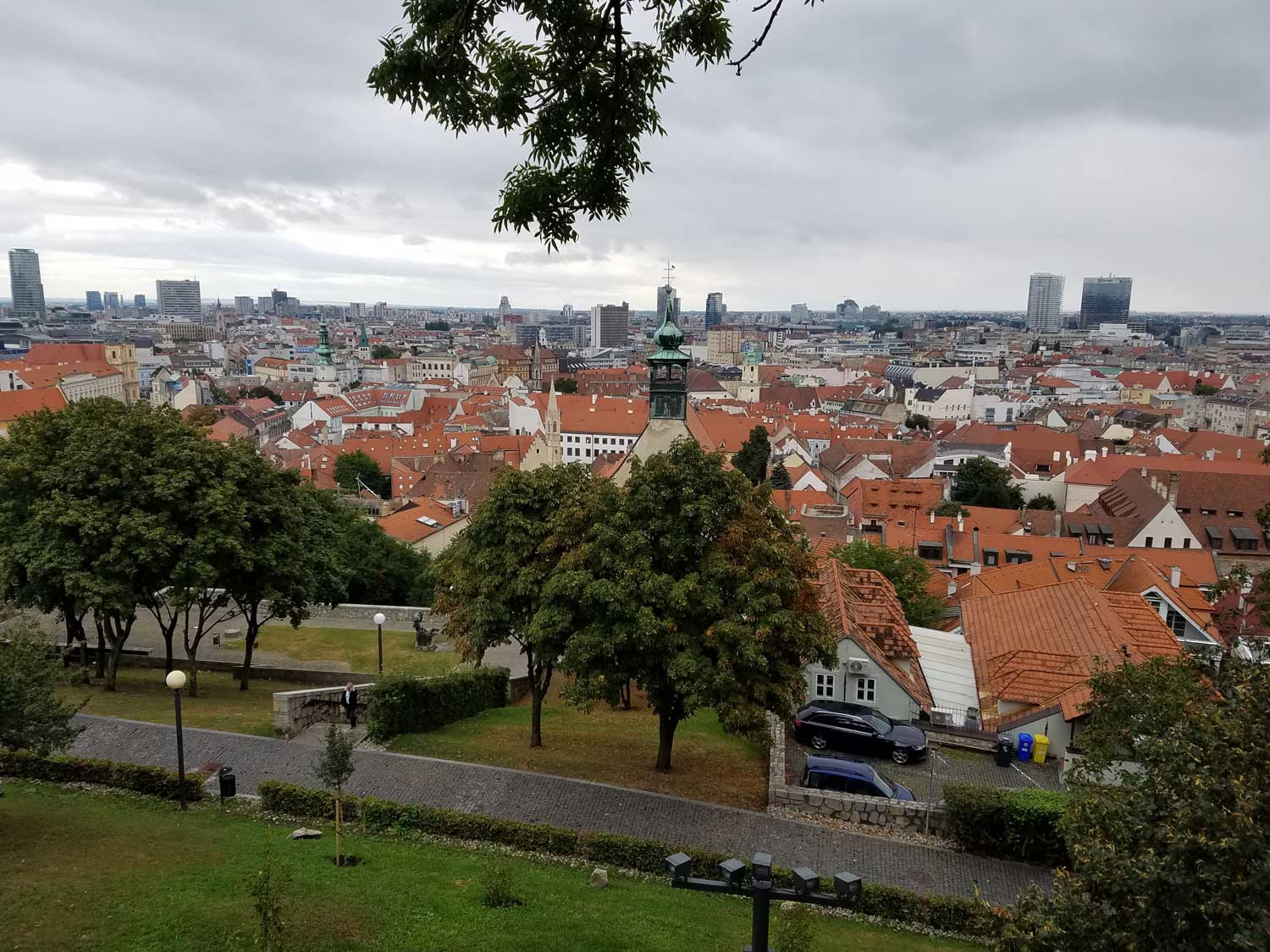 View from Bratislava Castle looking over the city.