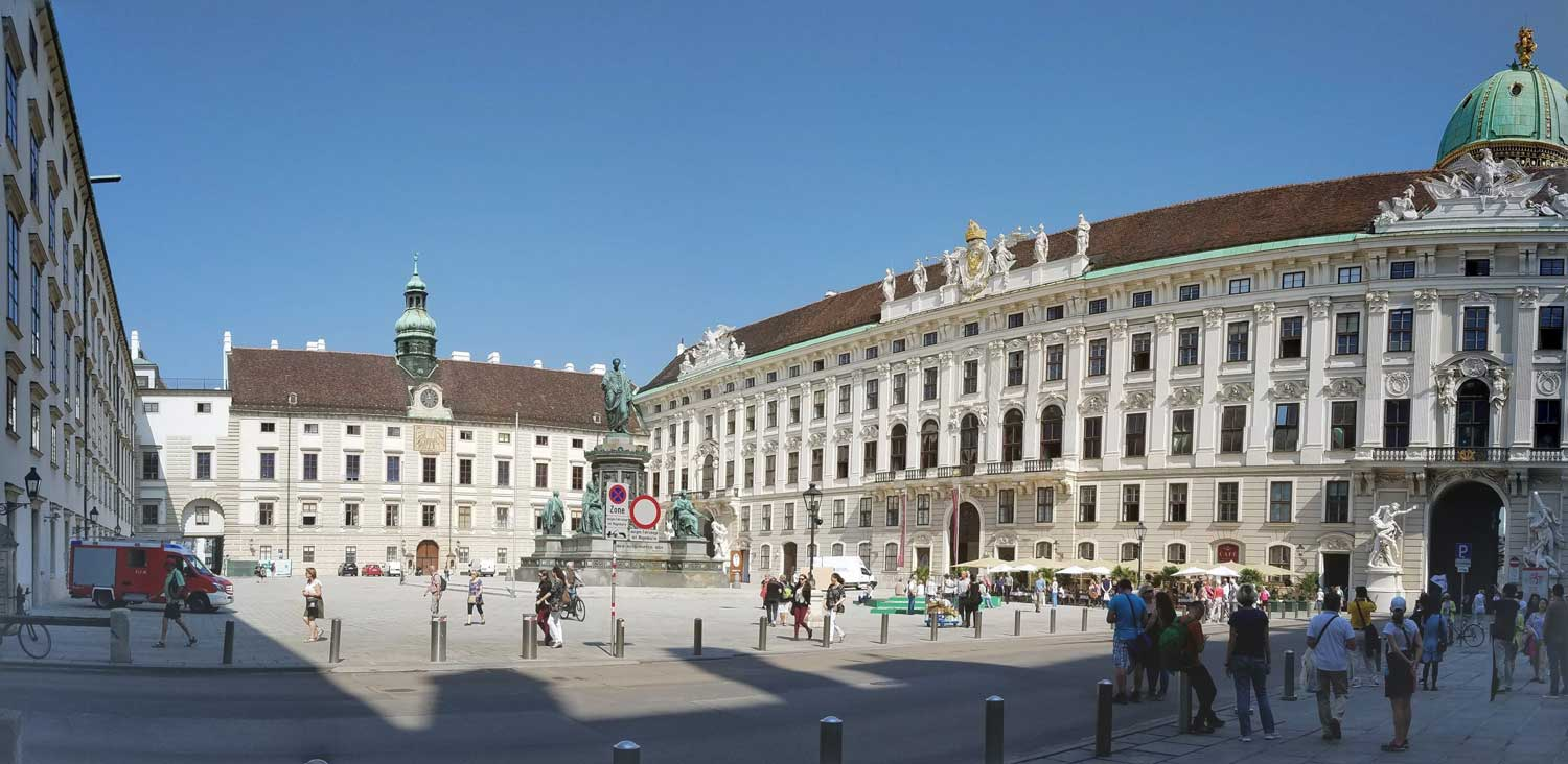 This is just one small section of the Habsburg's winter palace, which has numerous enormous wings.
