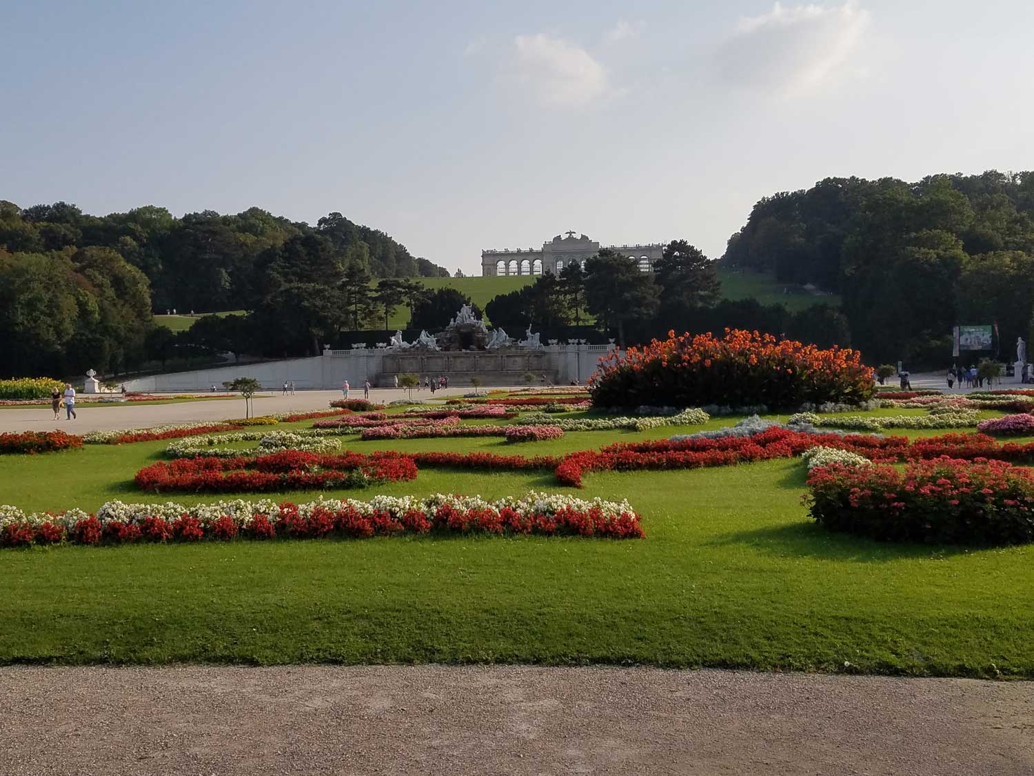 Strolling through the meticulous gardens at the Schonbrunn, the Habsburgs' summer palace