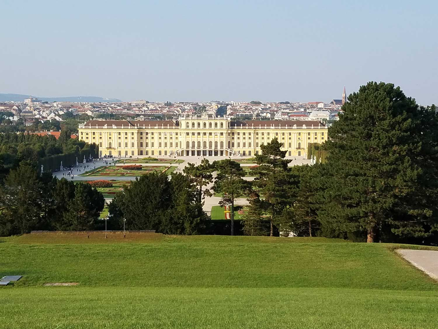One of my favorite spots in Vienna—at the top of the gardens looking down at the Schonbrunn and the city