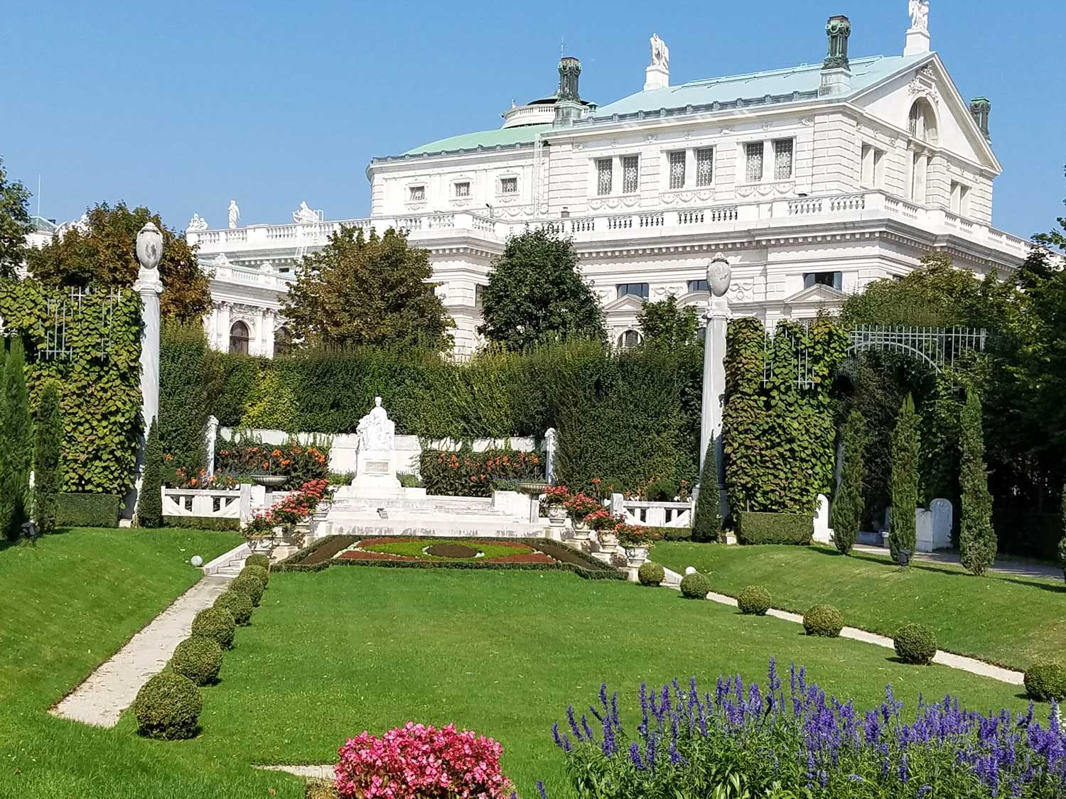 The monument that Franz Joseph built for Queen Sisi in one of the winter palace's many gardens
