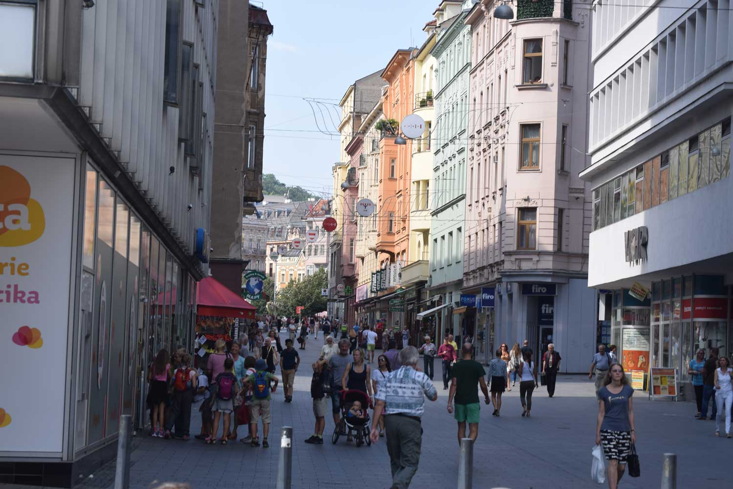 Brno's pedestrian shopping promenade felt like a smaller version of what you'd find in Vienna.