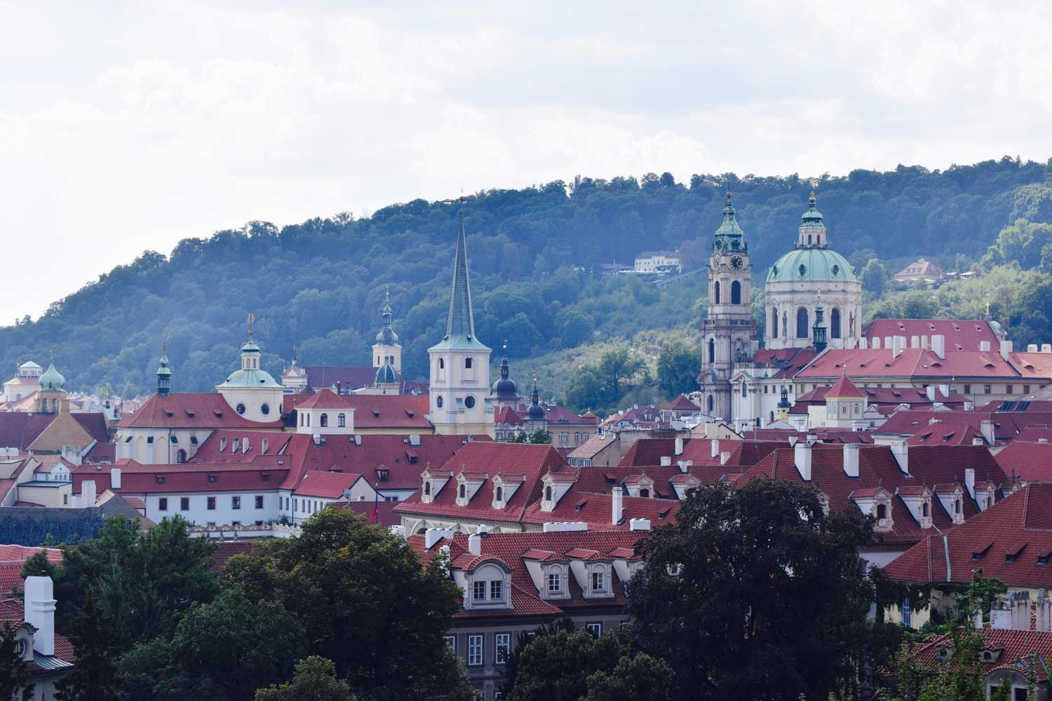 Great view from the ramparts of Castle Prague.