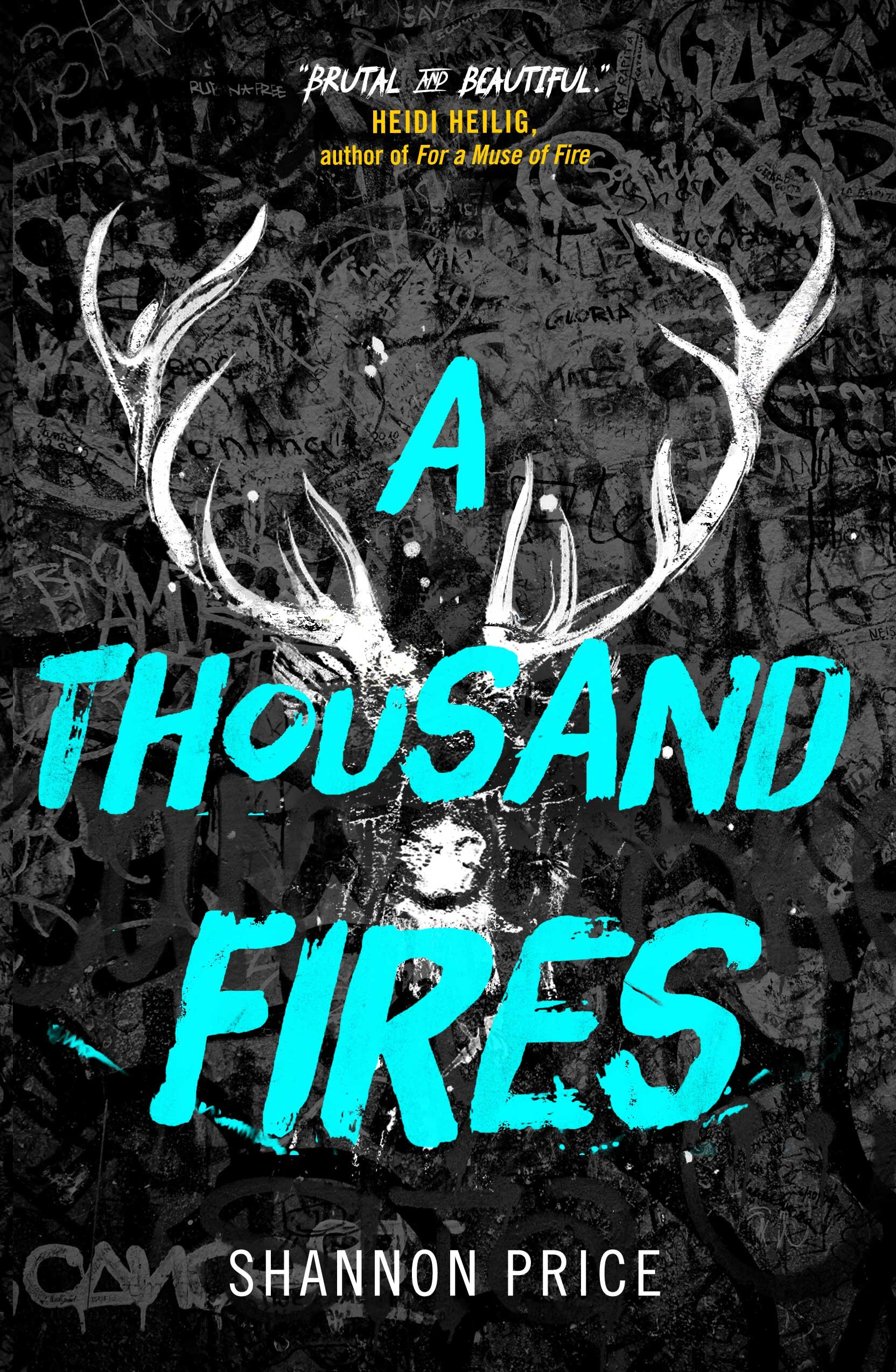"""""""A heart-wrenching tale, action-packed and intense...this is a fantastic read."""" - School Library Journal (Shannon Price's A THOUSAND FIRES is on sale November 5, 2019)"""