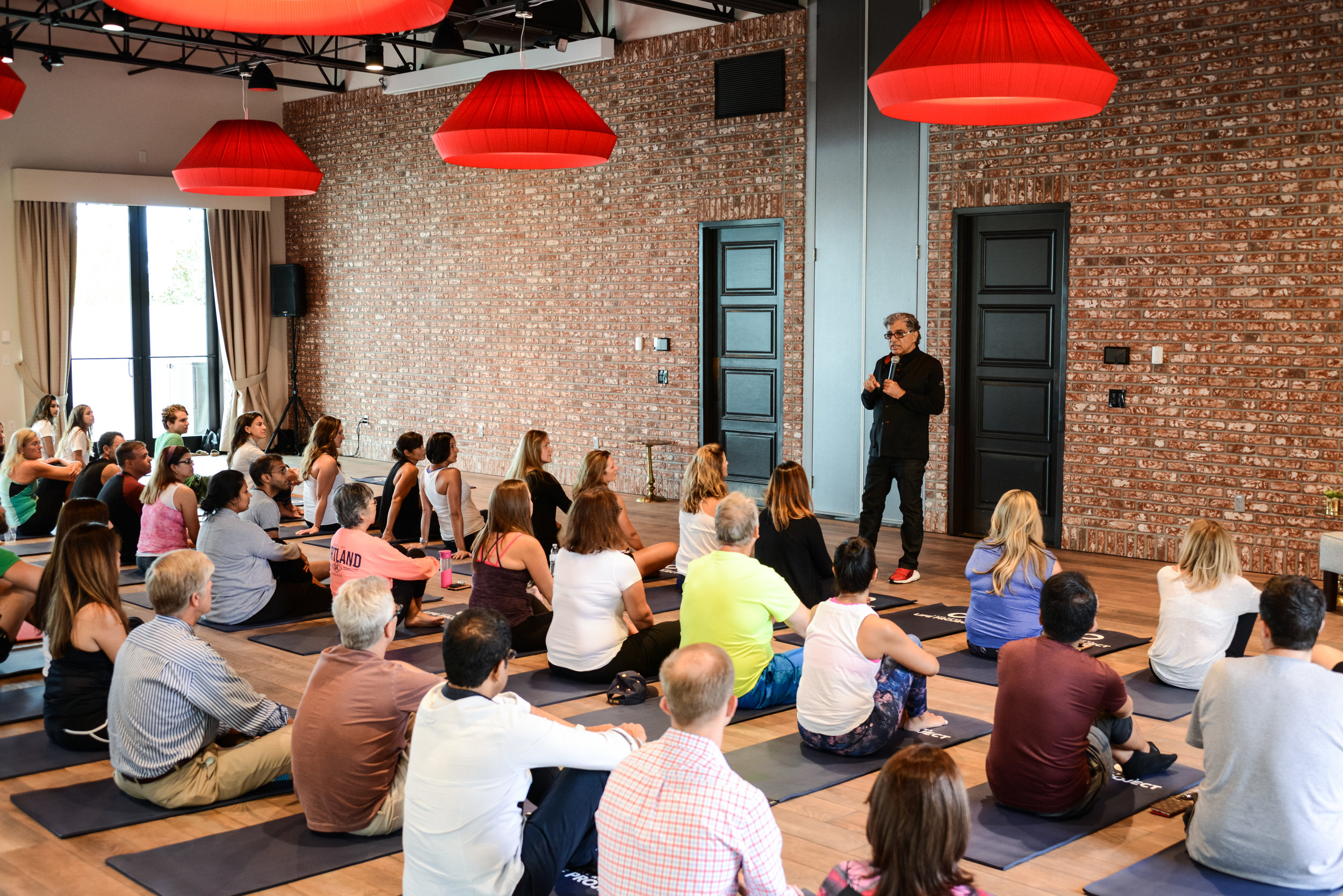Private yoga and meditation led by world-renowned Deepak Chopra and Eddie Stern