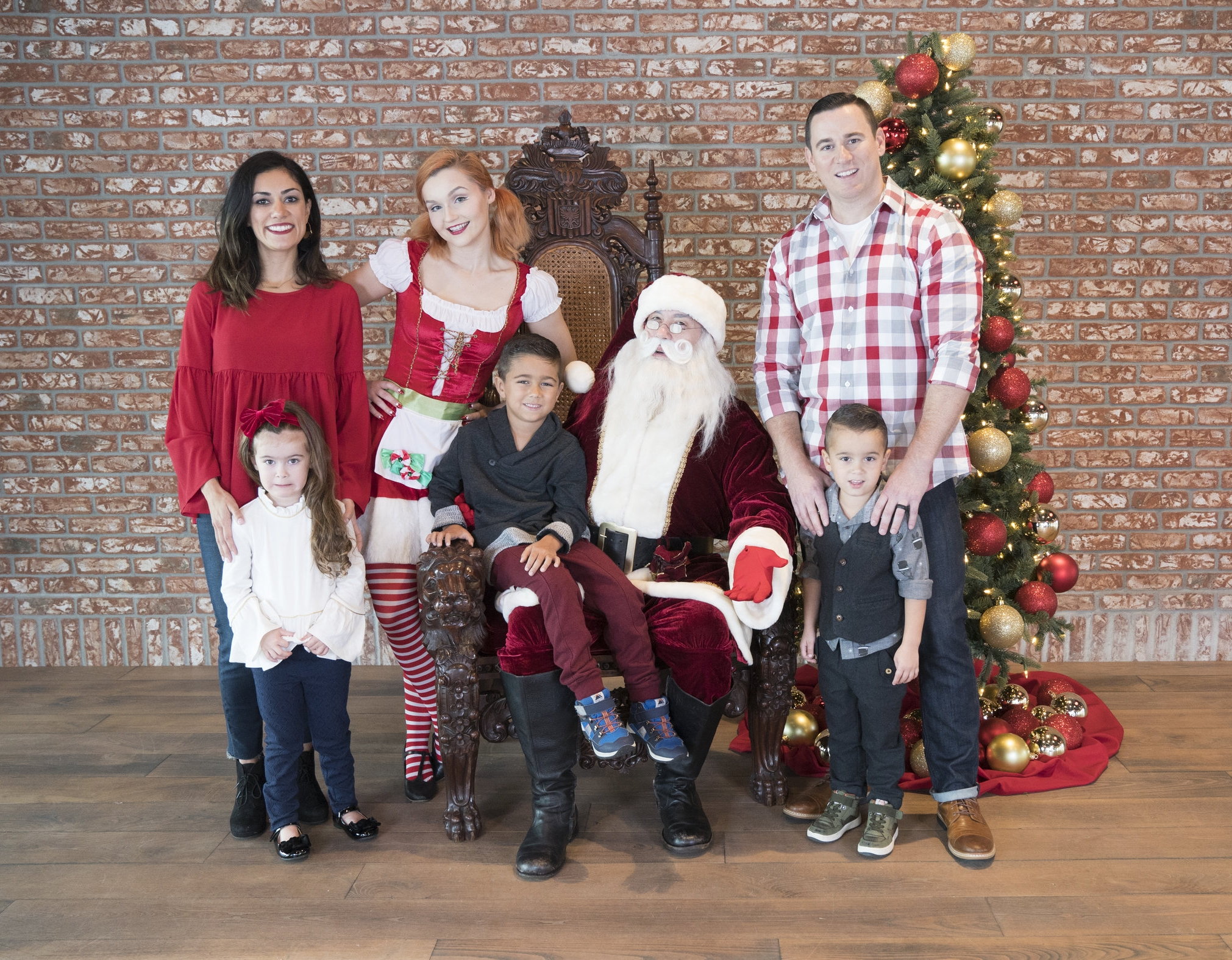 Santa visited Lake Nona for photos with Life Project participants; Featuring the Shaw family