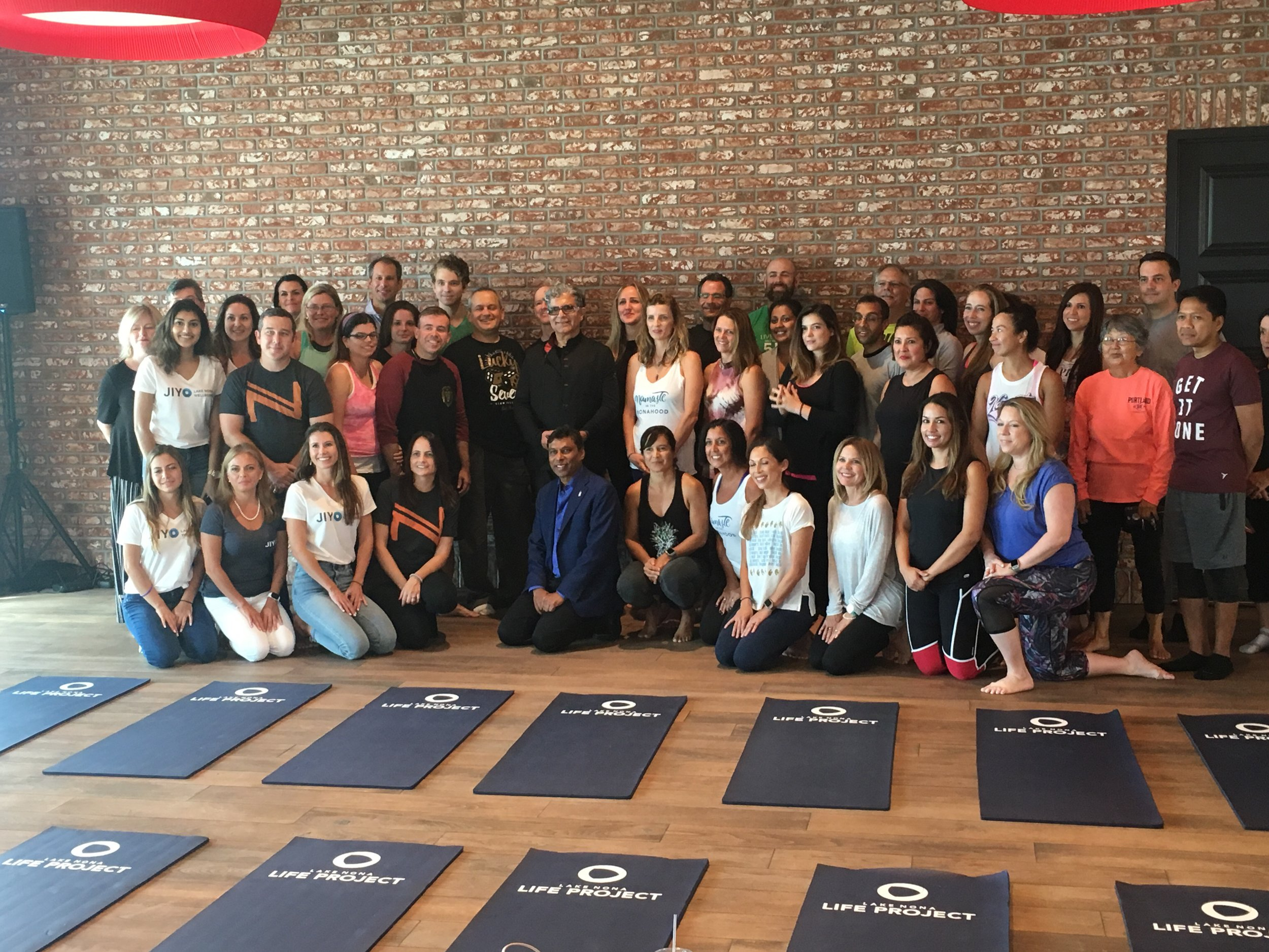 Life Project participants with Deepak Chopra