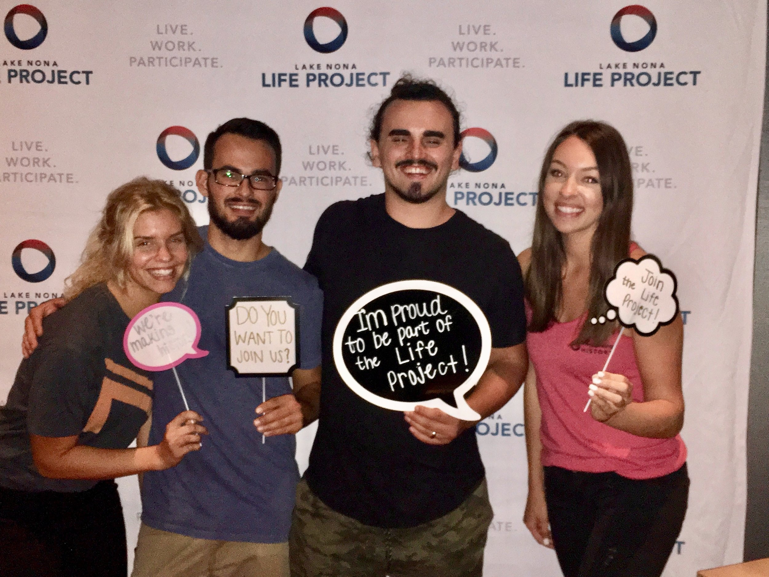 Brielle, Jason, Michael and Tayler at Life Project Champ event