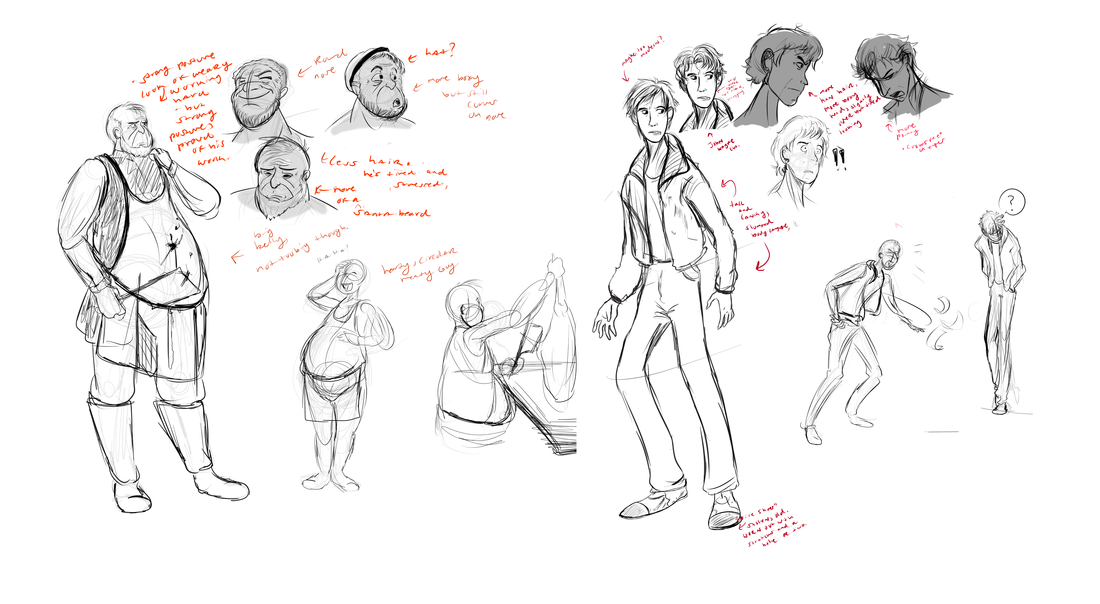 The Man Who Cheats Death : Character Concepts