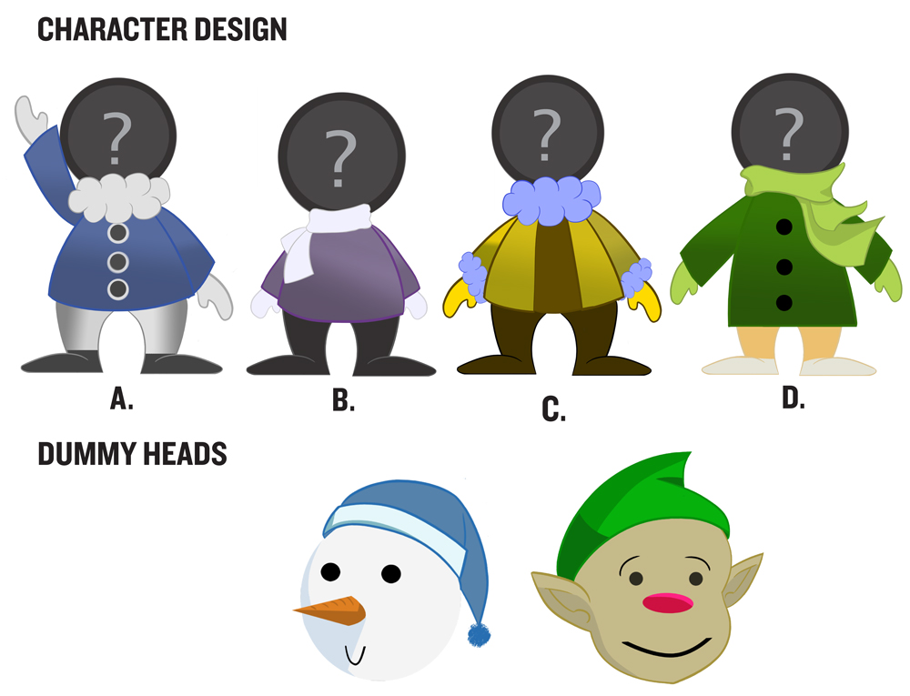 ComEd: Holiday Lights Animation Character Designs