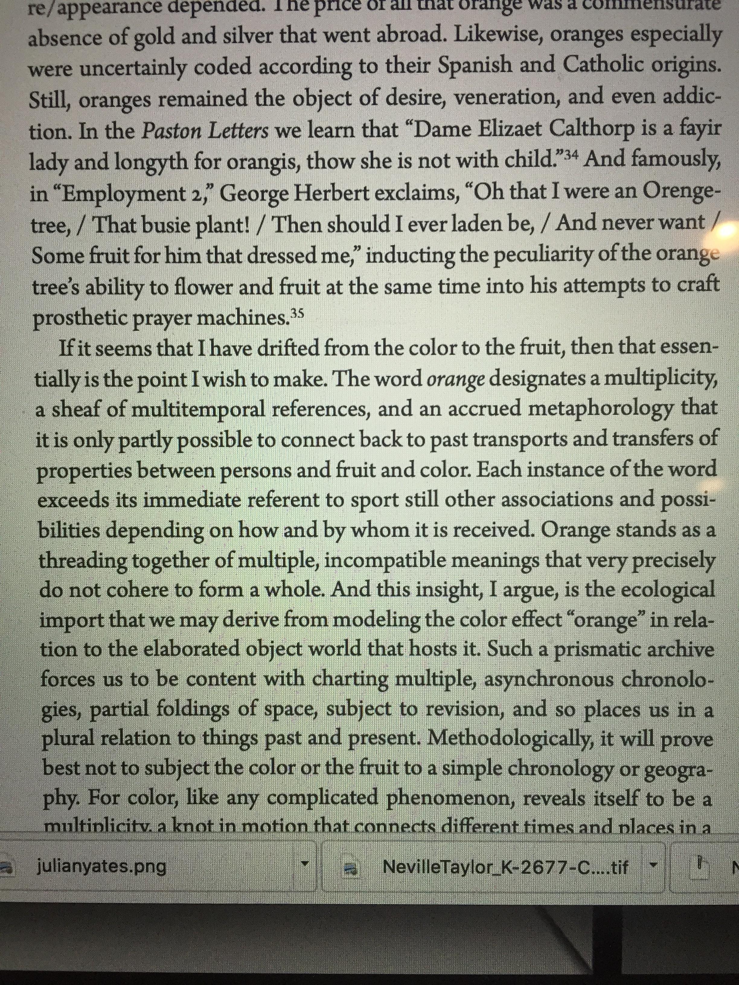 Excerpt from Orange by Julian Yates