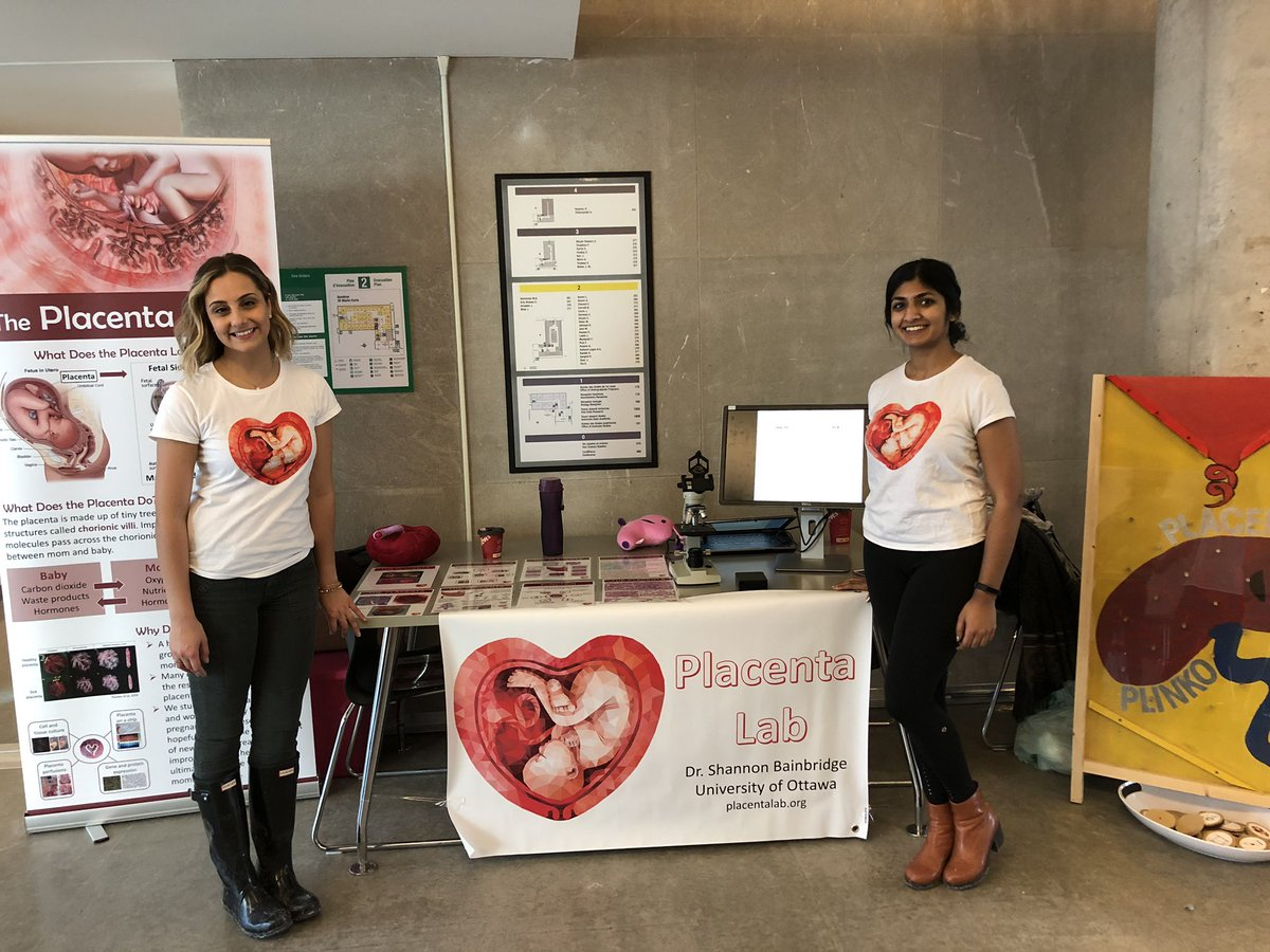 Anika and Sonia representing the Placenta Lab at the Connecting Young Minds career fair.