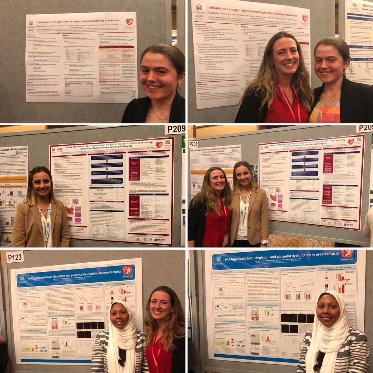 Michal, Sonia and Fahmida sharing their posters at the annual CNPRM 2019 in Mont-Tremblant.