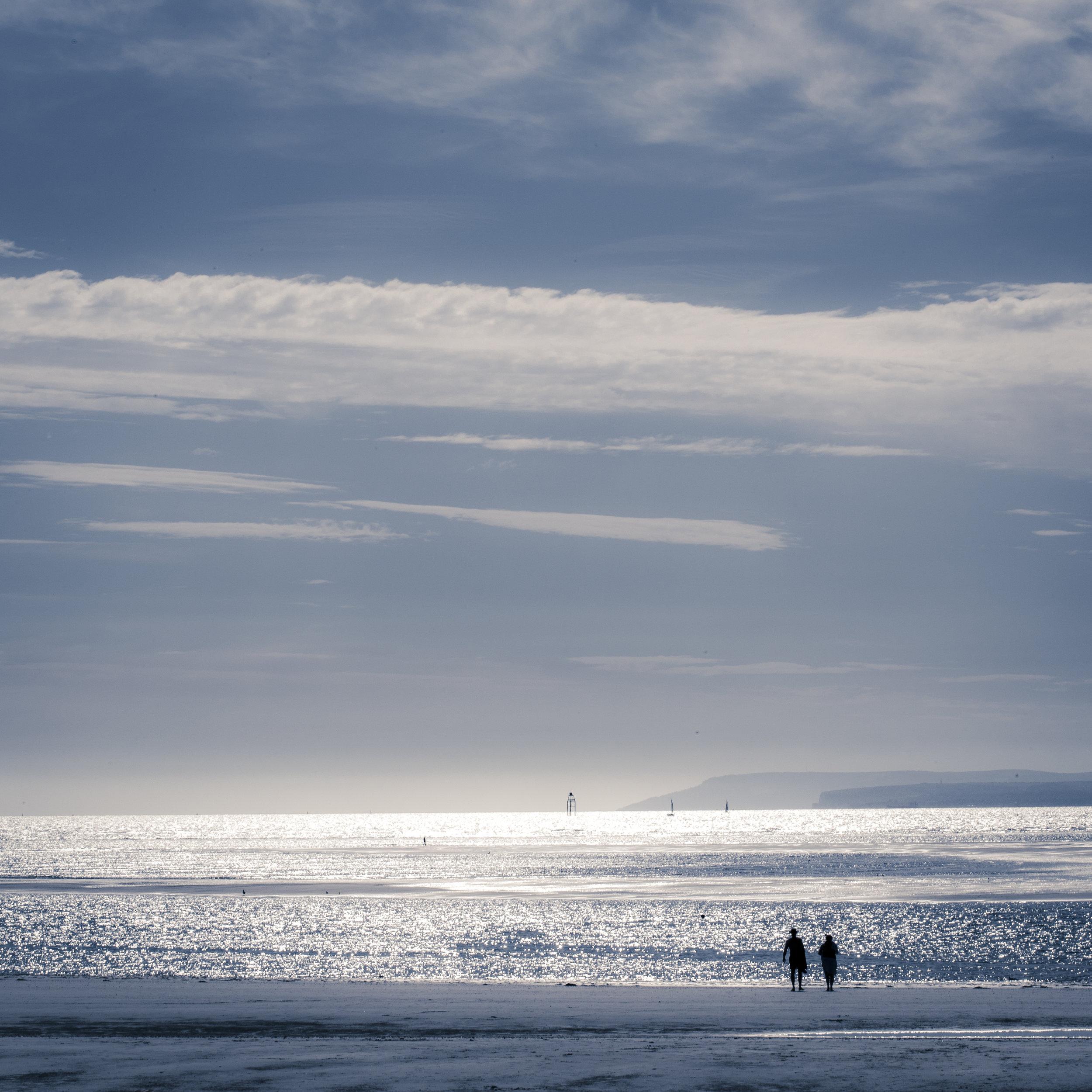 West wittering beach walkers