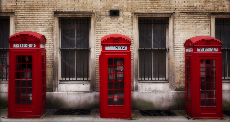 London phone boxes