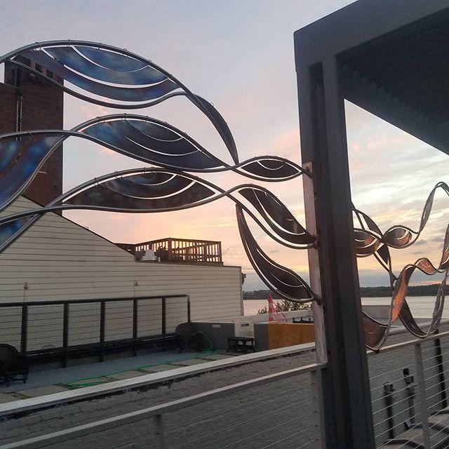 Sunset Kinetic River #riverside #kinetic art