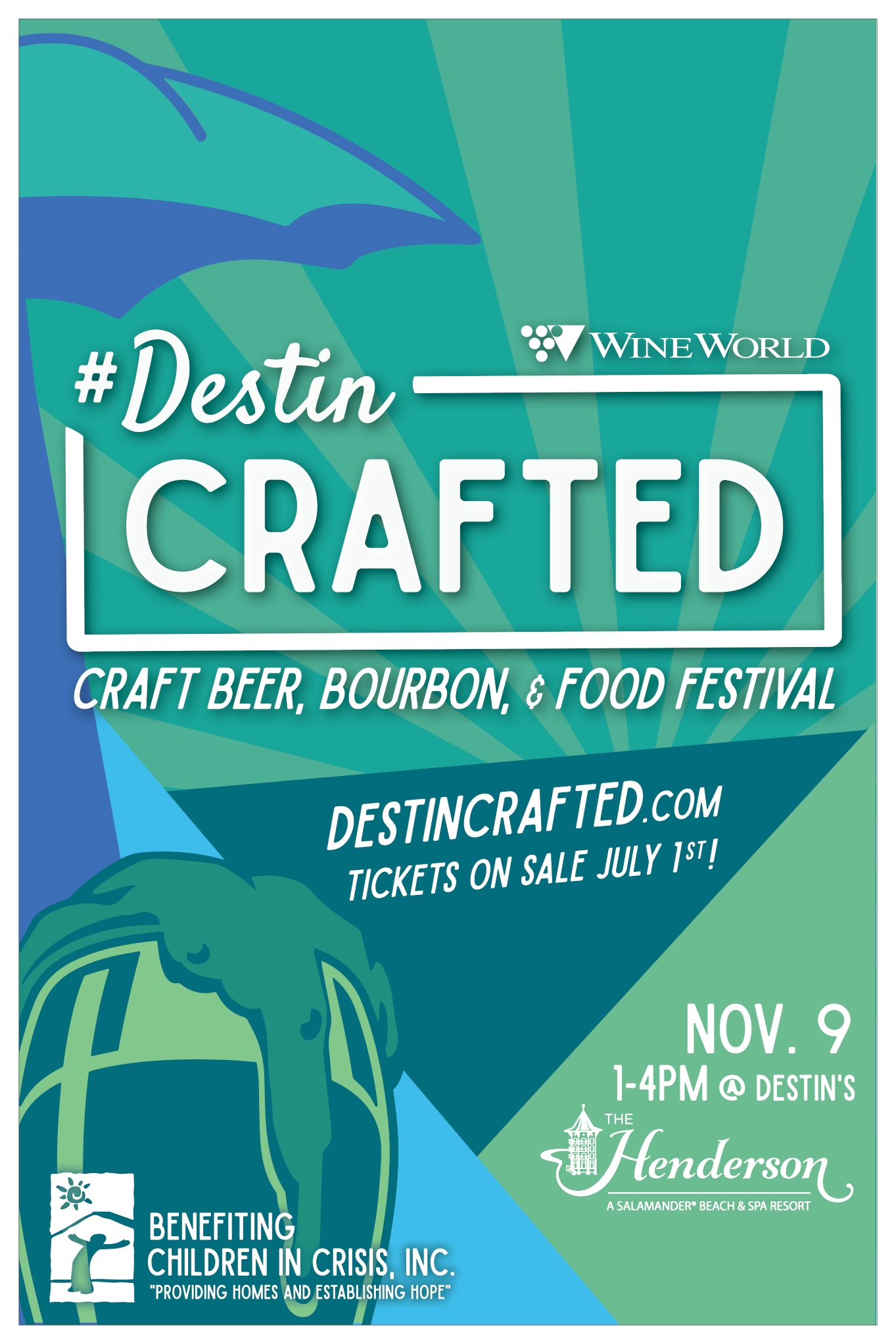 Destin Crafted Beer Fest poster