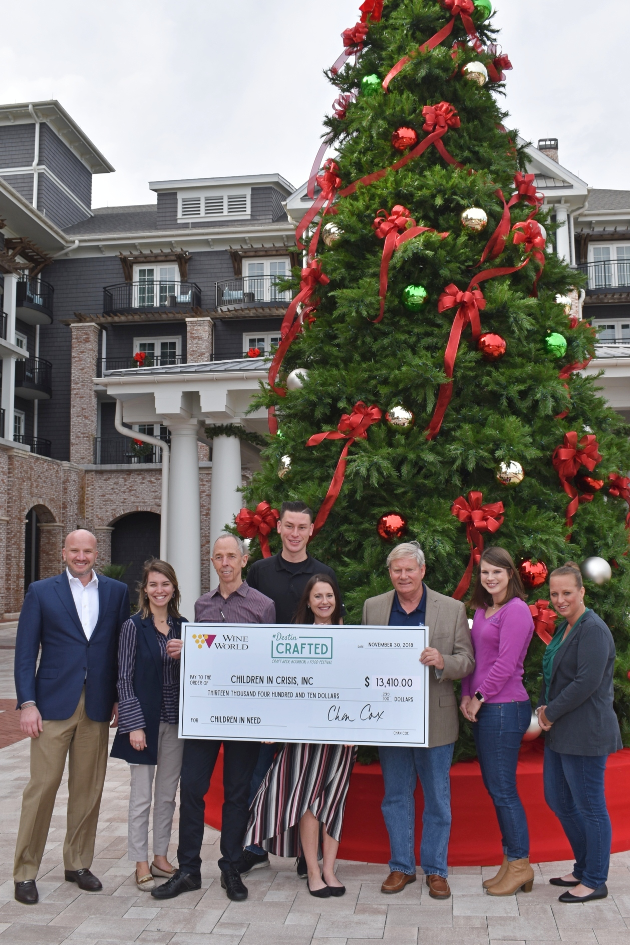 DEC. 2018 - Just in time for the holidays, Wine World & The Henderson present Children in Crisis with funds raised from Destin Crafted