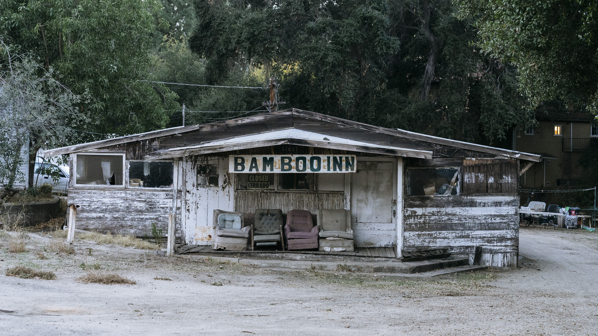 IMAGE CAPTION:  A shuttered Inn on Campo Road in  Dulzura, California. 7 miles from the border wall.