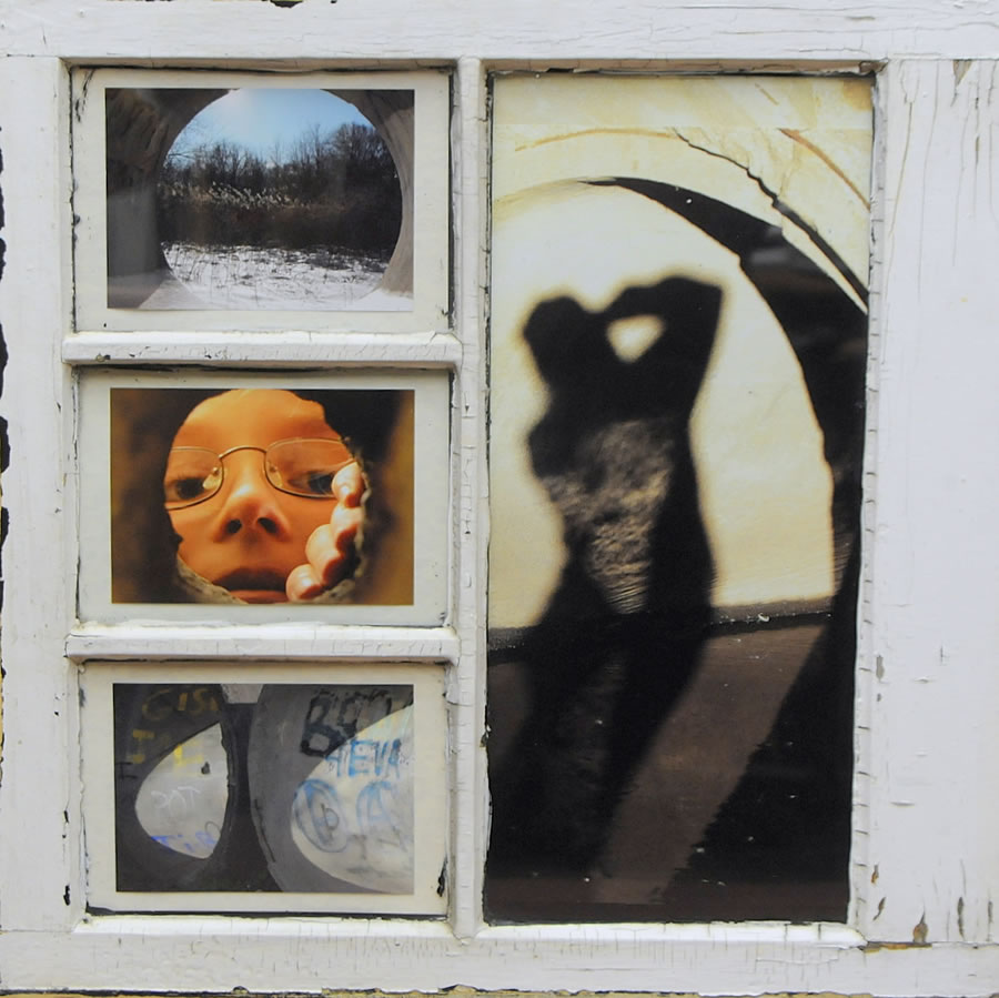 Windows on the Park - Rachel Banai  2009 and 2010 Photography and recycled window frames