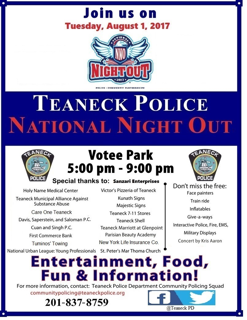 Teaneck Police National Night Out