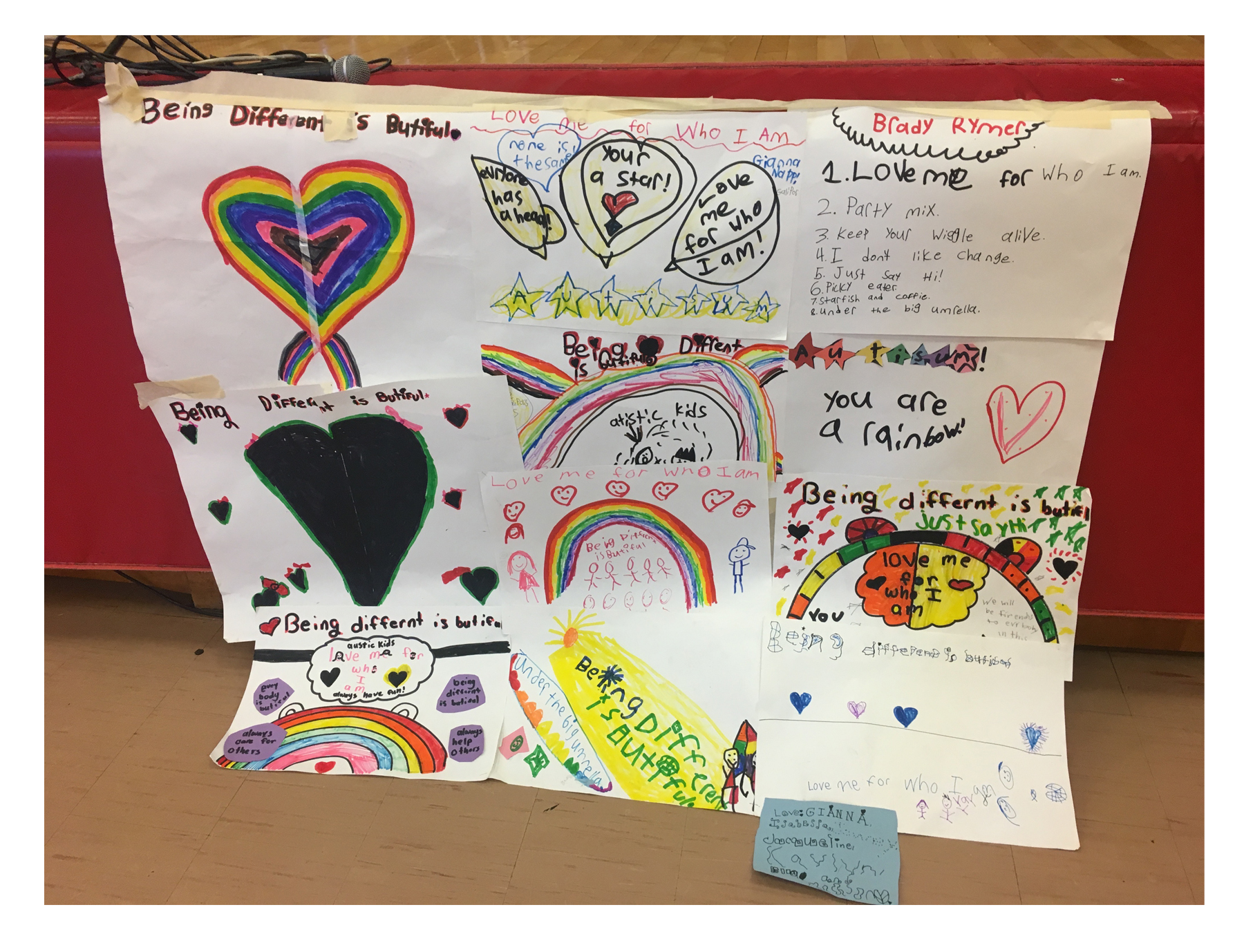"""Being Different is Beautiful"" Project for our ""Love Me For Who I Am' concert!"