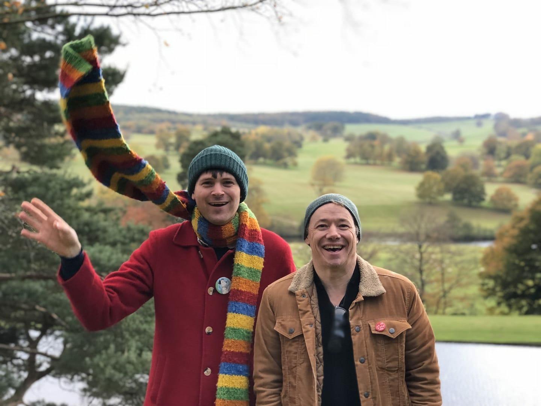 David & me at  Chatsworth House , Derbyshire, England. Photo by Bridget Rymer