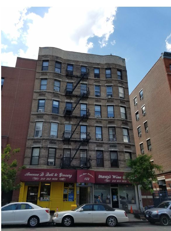133 AVE D, EAST VILLAGE    $8,300,000    GRM of 13.9., CAP Rate of 4.37, PPSQFT $450