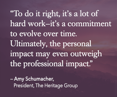 amy schumacher, heritage group