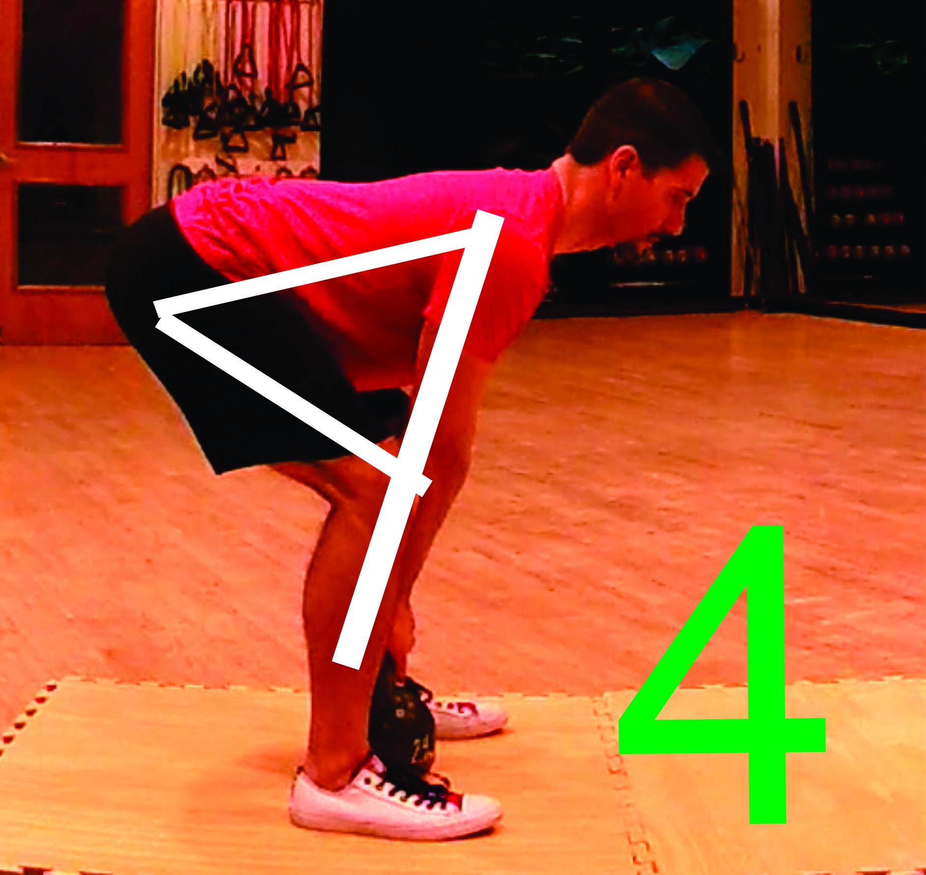 Figure 2 - The Figure 4 position of a deadlift