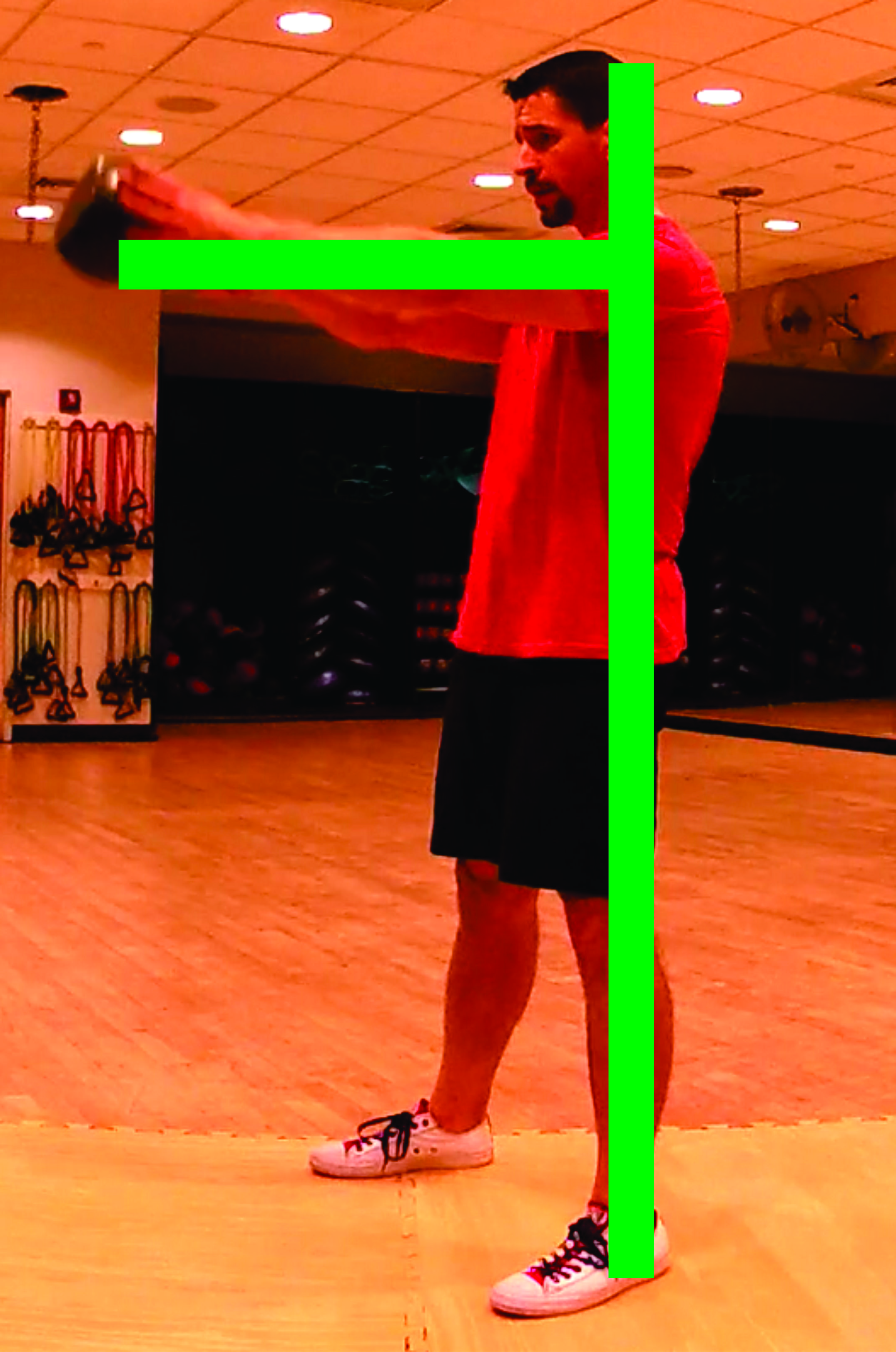 Figure 7 - The two lines at the top of a swing (one-arm swing shown).