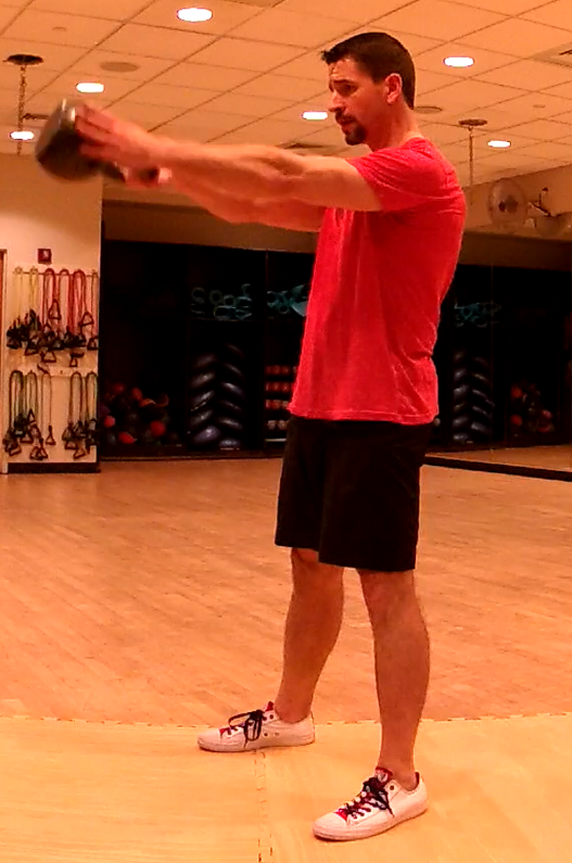 Figure 10 - The apex of the one-arm swing