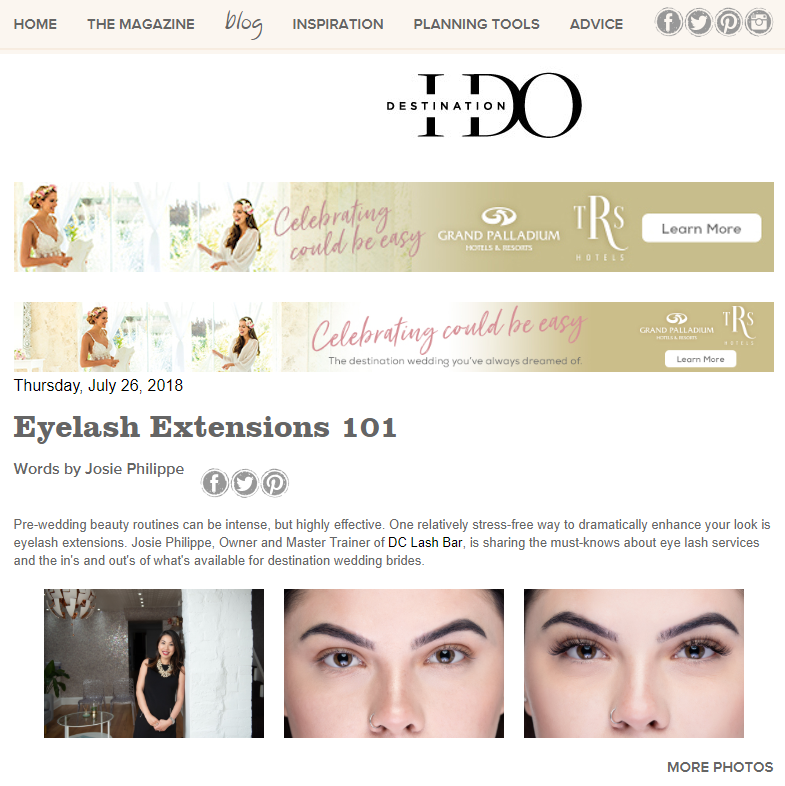Eyelash Extensions 101 - https://destinationido.com/destination-wedding-eyelash-extensionsJuly 2018
