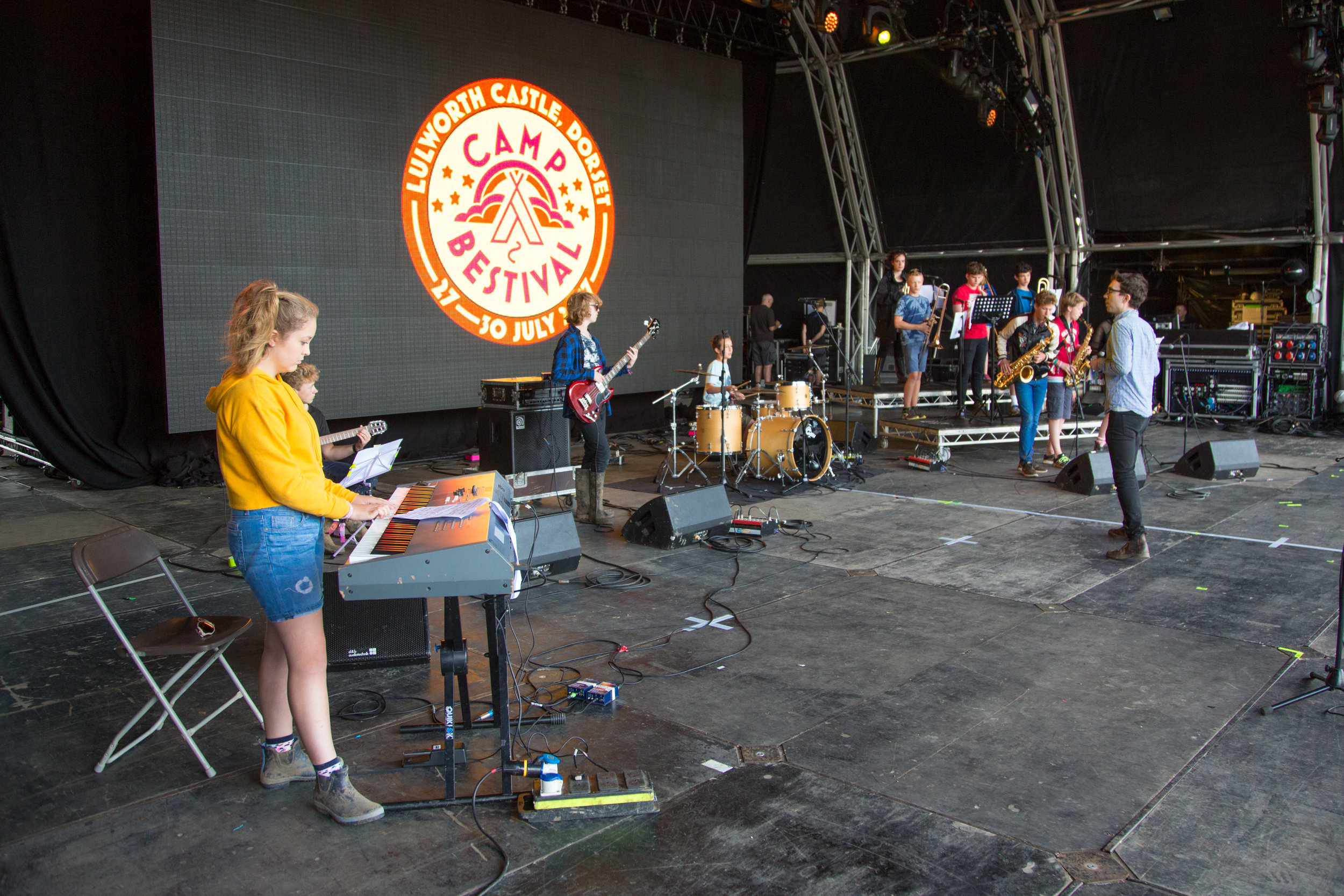 Leading workshop for Ronnie Scott's @ Camp Bestival   Photo Credit Robin Ball  http://www.robinballphotography.com