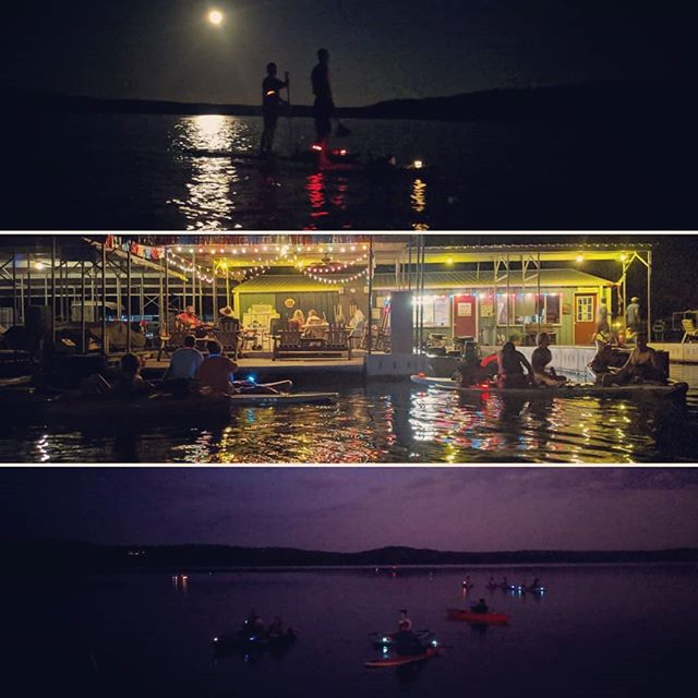 Will you be at the next Full Moon Float? Light up the night with us, listen to @the_real_eric_howell play live music from the on the dock and paddle your cares away on Bull Shoals Lake.  SPACE IS LIMITED! We are already booked up online, but there are still boards available. Call or text us to save your spot on the water!  #glowpaddle #nightpaddle #nightpaddleboarding #lightupthenight #supallday #supallnight #lakeallday #lakeallnight #suplife #lakelife #docklife #sup #supmo #supozarks #suplove #supbullshoals #paddleboarding #paddleboard #paddleunderthestars #paddledownyonder